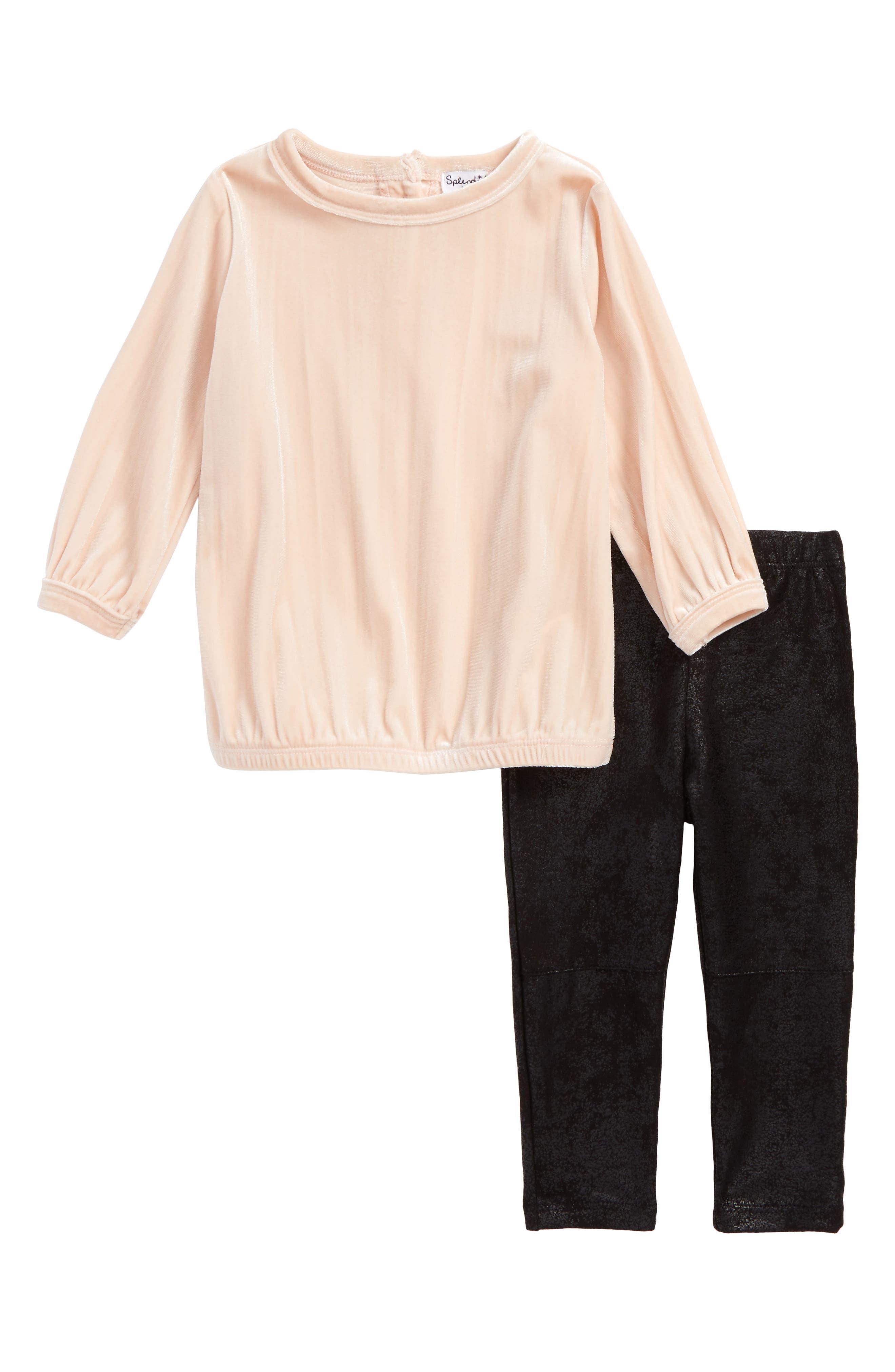 Tunic & Leggings Set,                         Main,                         color, Light Pink