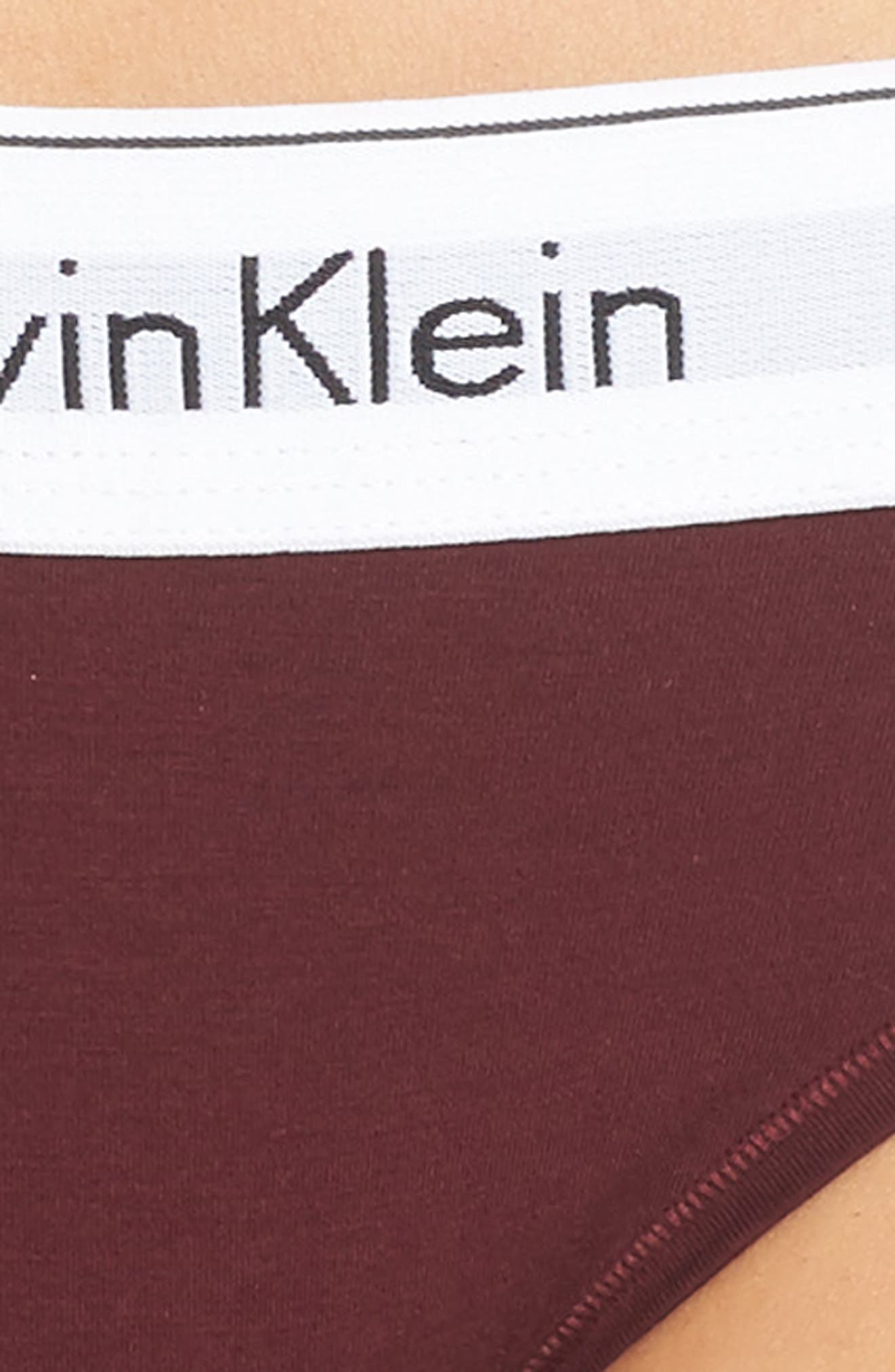 Alternate Image 4  - Calvin Klein 'Modern Cotton Collection' Cotton Blend Bikini