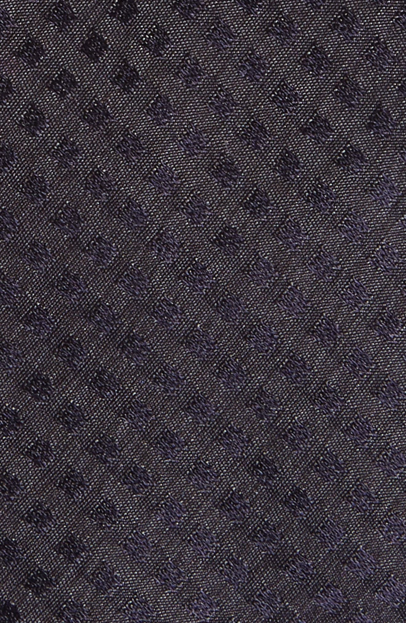 Dot Skinny Silk Tie,                             Alternate thumbnail 2, color,                             Navy