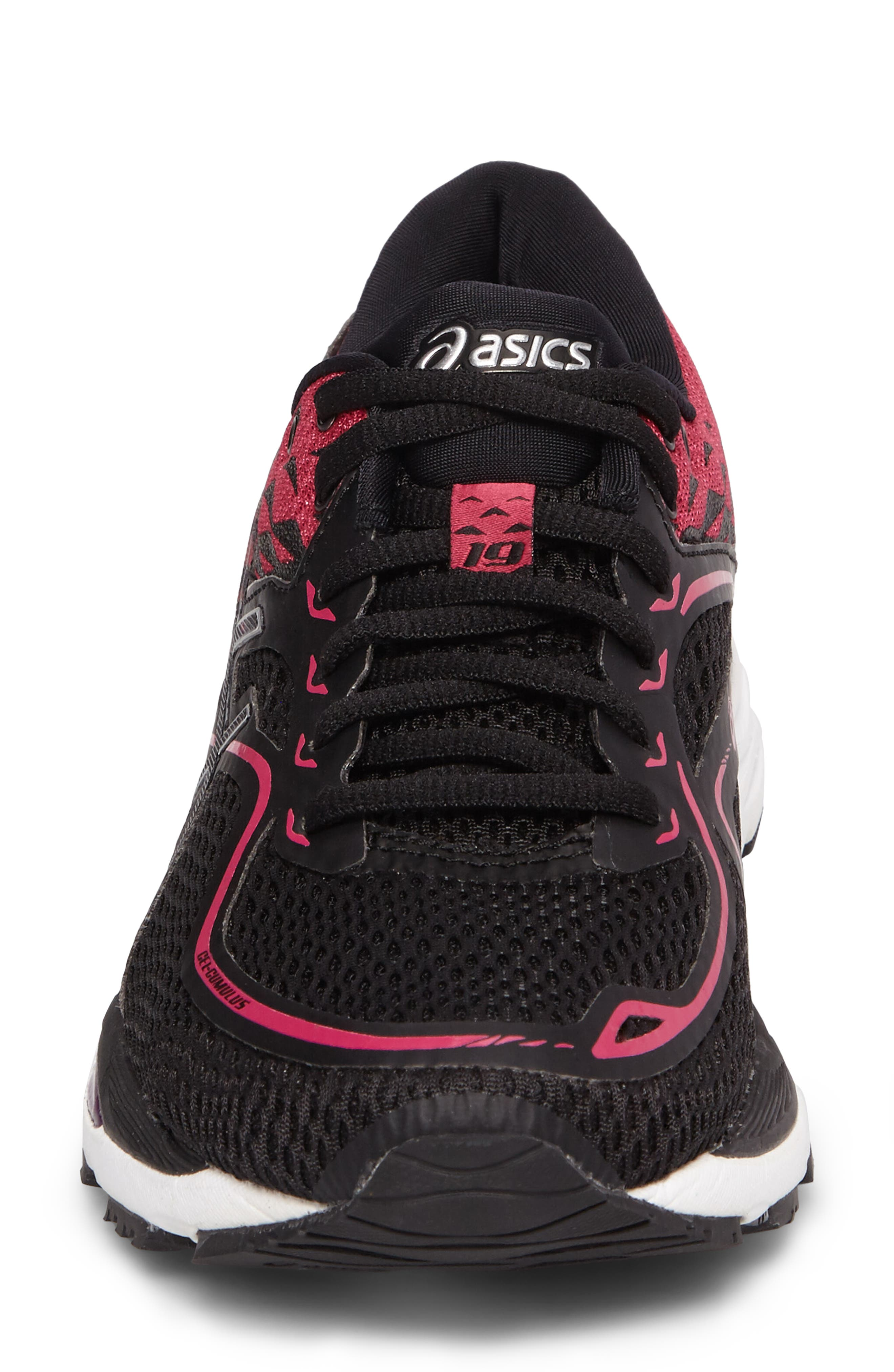 Gel Cumulus 19 2A Running Shoe,                             Alternate thumbnail 4, color,                             Black/ Silver/ Pink Peacock