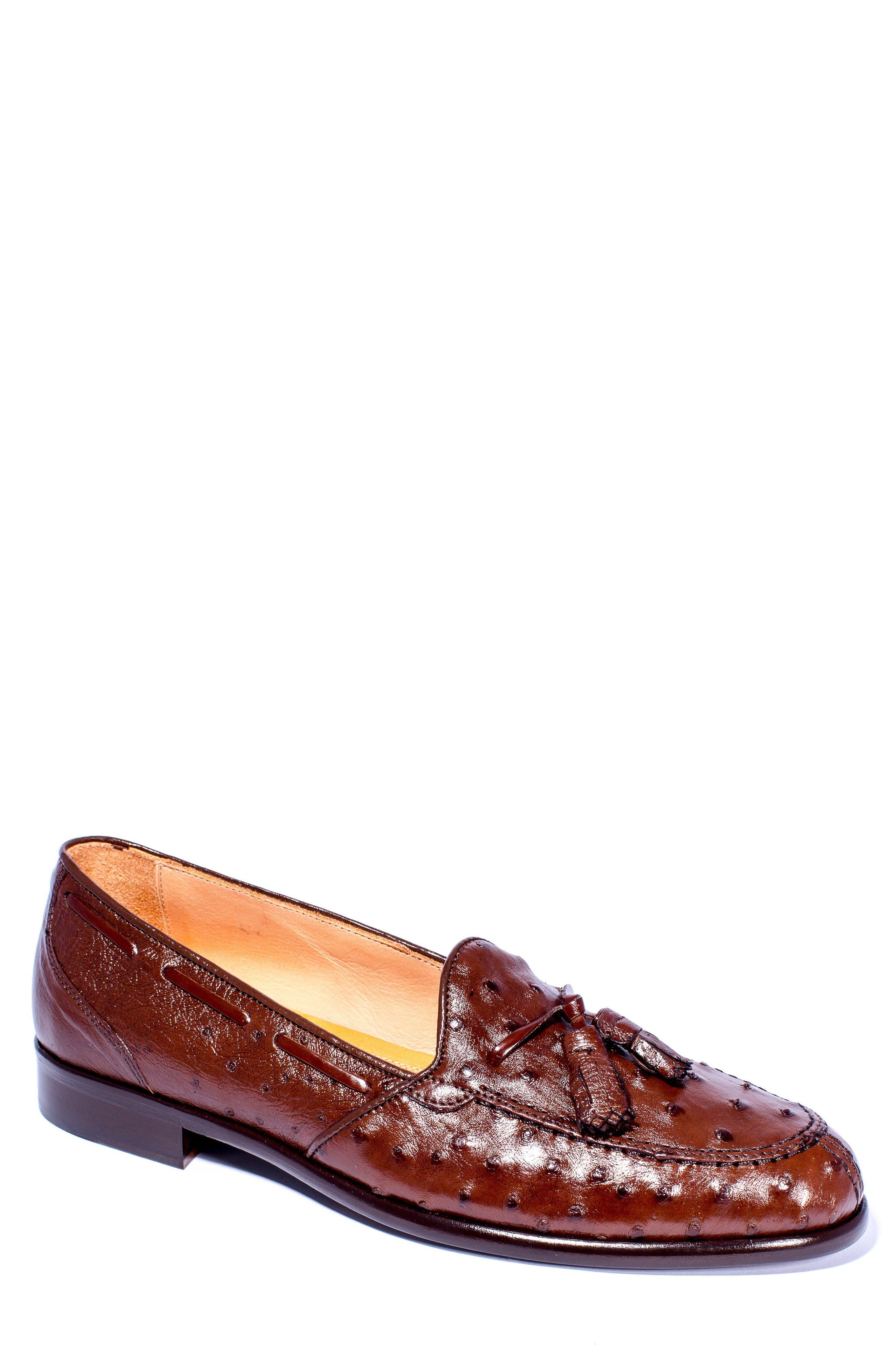 Alternate Image 1 Selected - Zelli Franco Tassel Exotic Leather Loafer (Men)