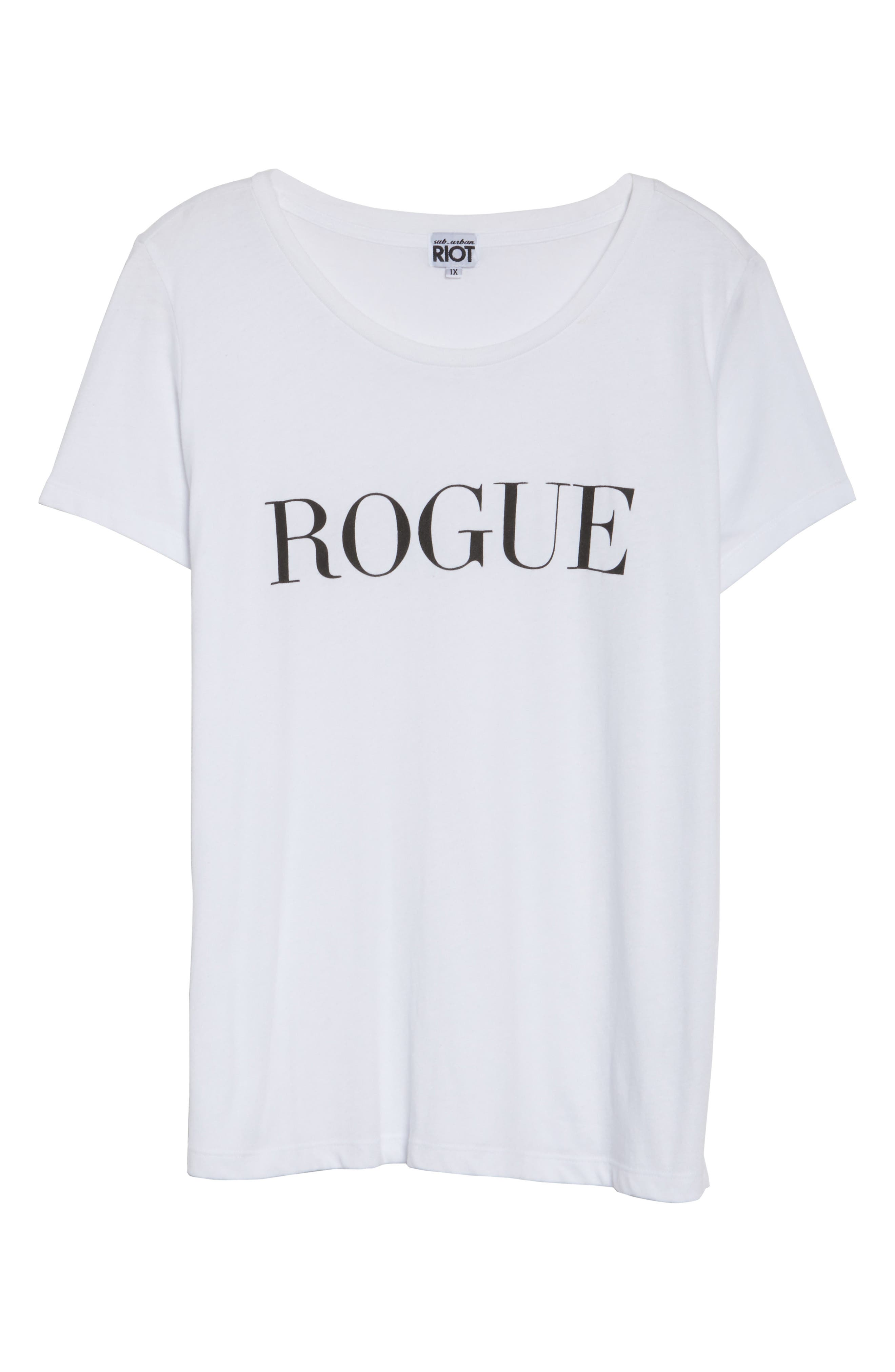 Alternate Image 6  - Sub_Urban Riot Rogue Graphic Tee (Plus Size)