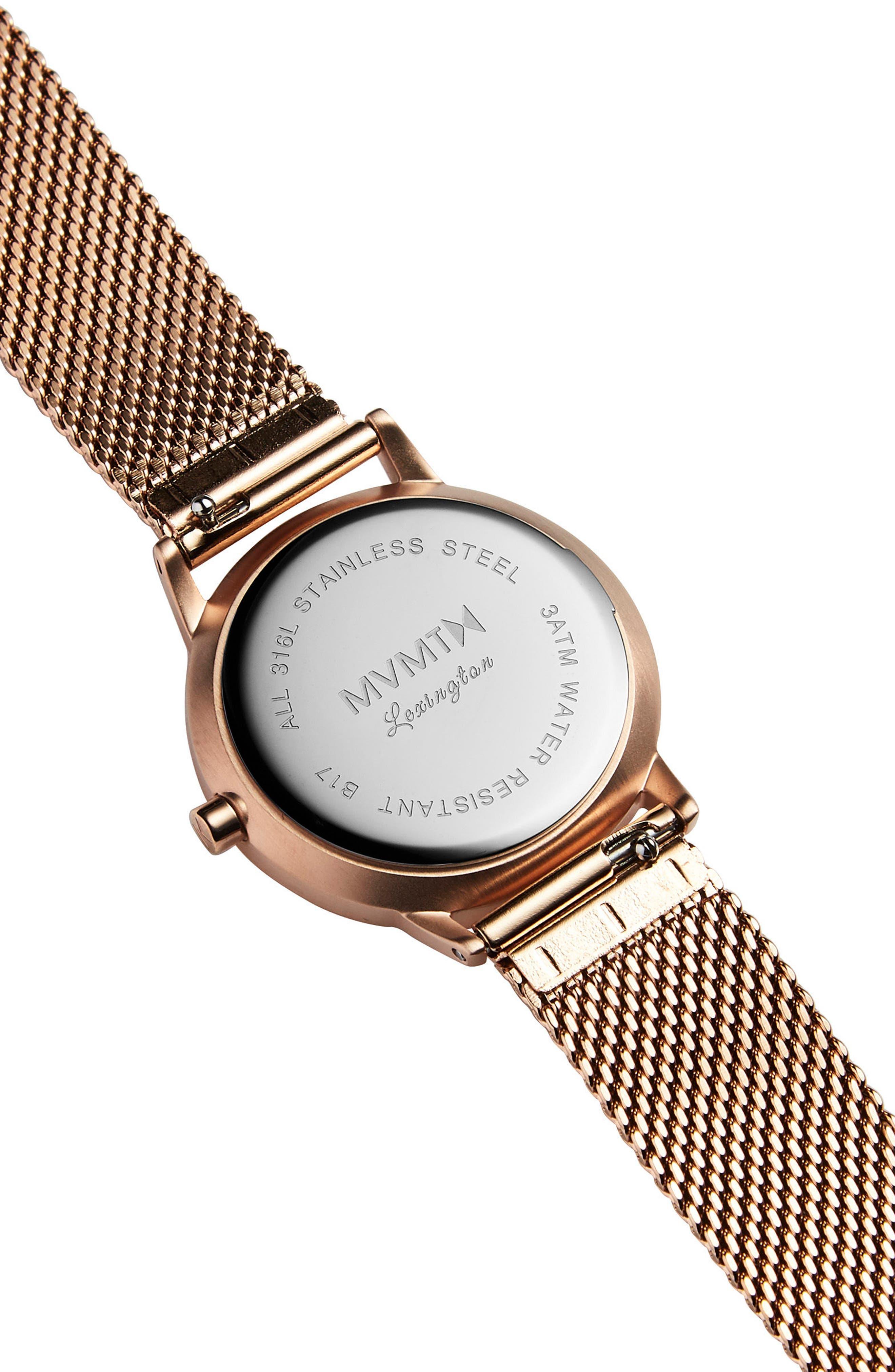 Alternate Image 2  - MVMT Avenue Lexington Mesh Strap Watch, 28mm