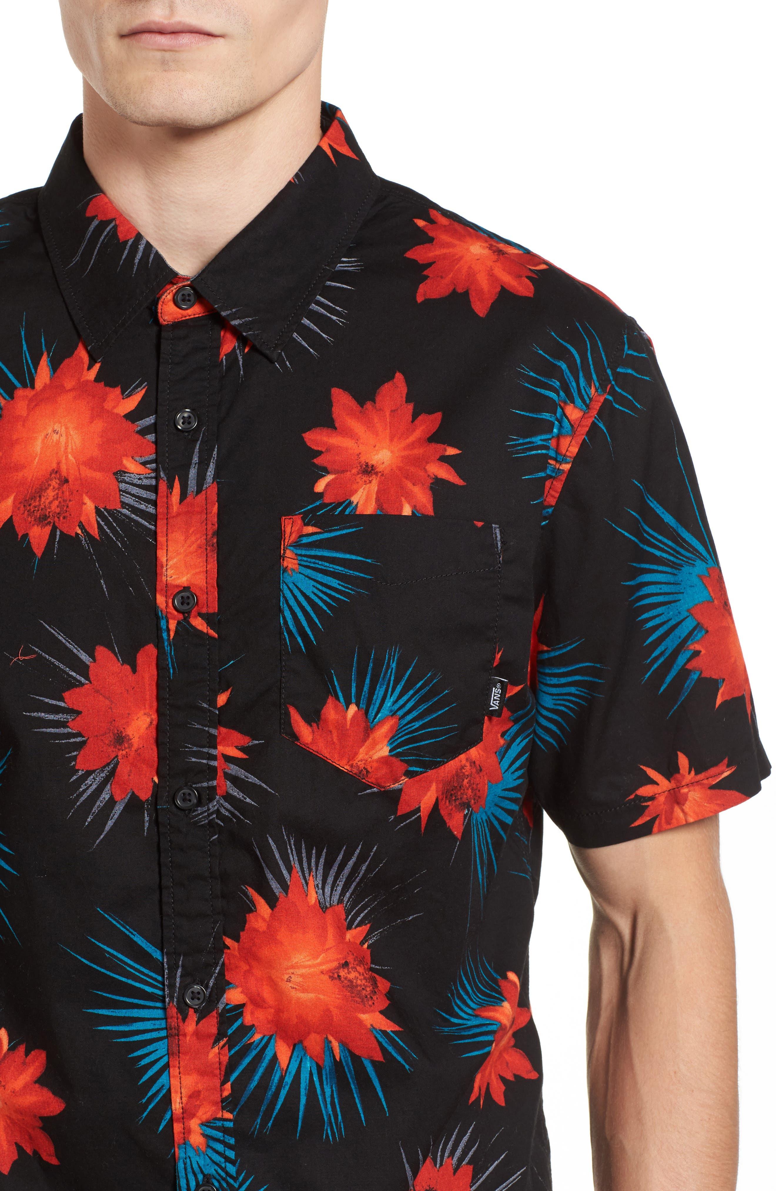 Cultivar Woven Shirt,                             Alternate thumbnail 4, color,                             Cactus Floral