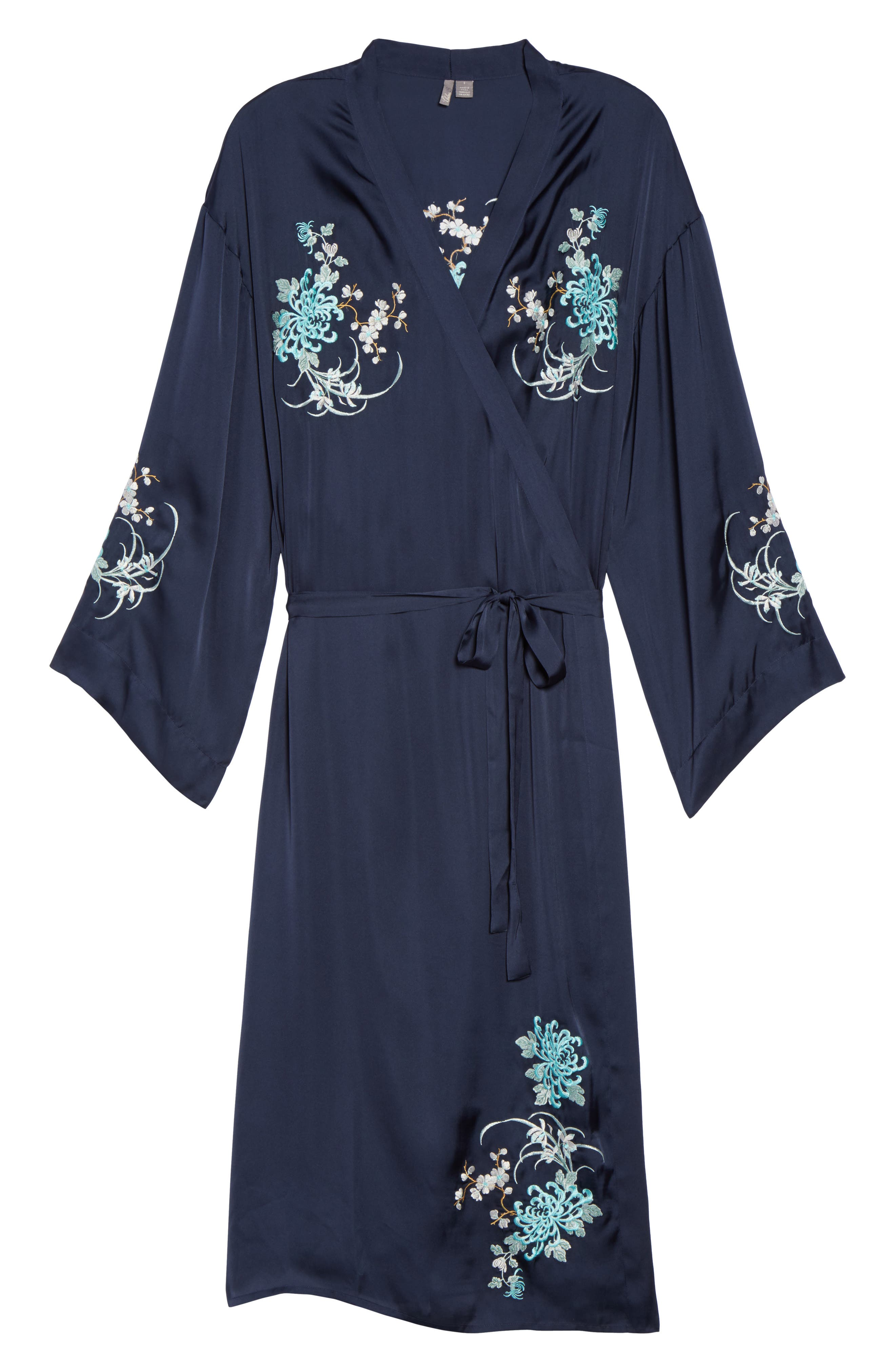Alternate Image 6  - Chelsea28 Embroidered Long Robe