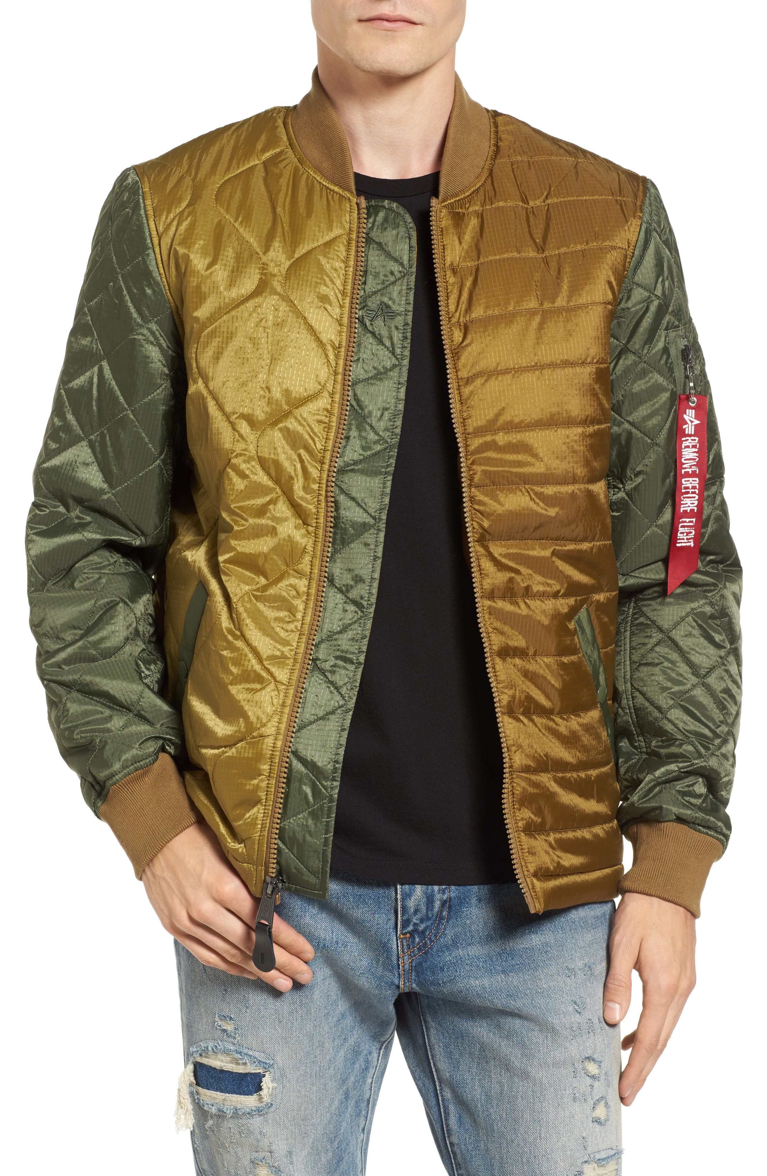 Ally Bomber Jacket,                         Main,                         color, Olive Drab Multi