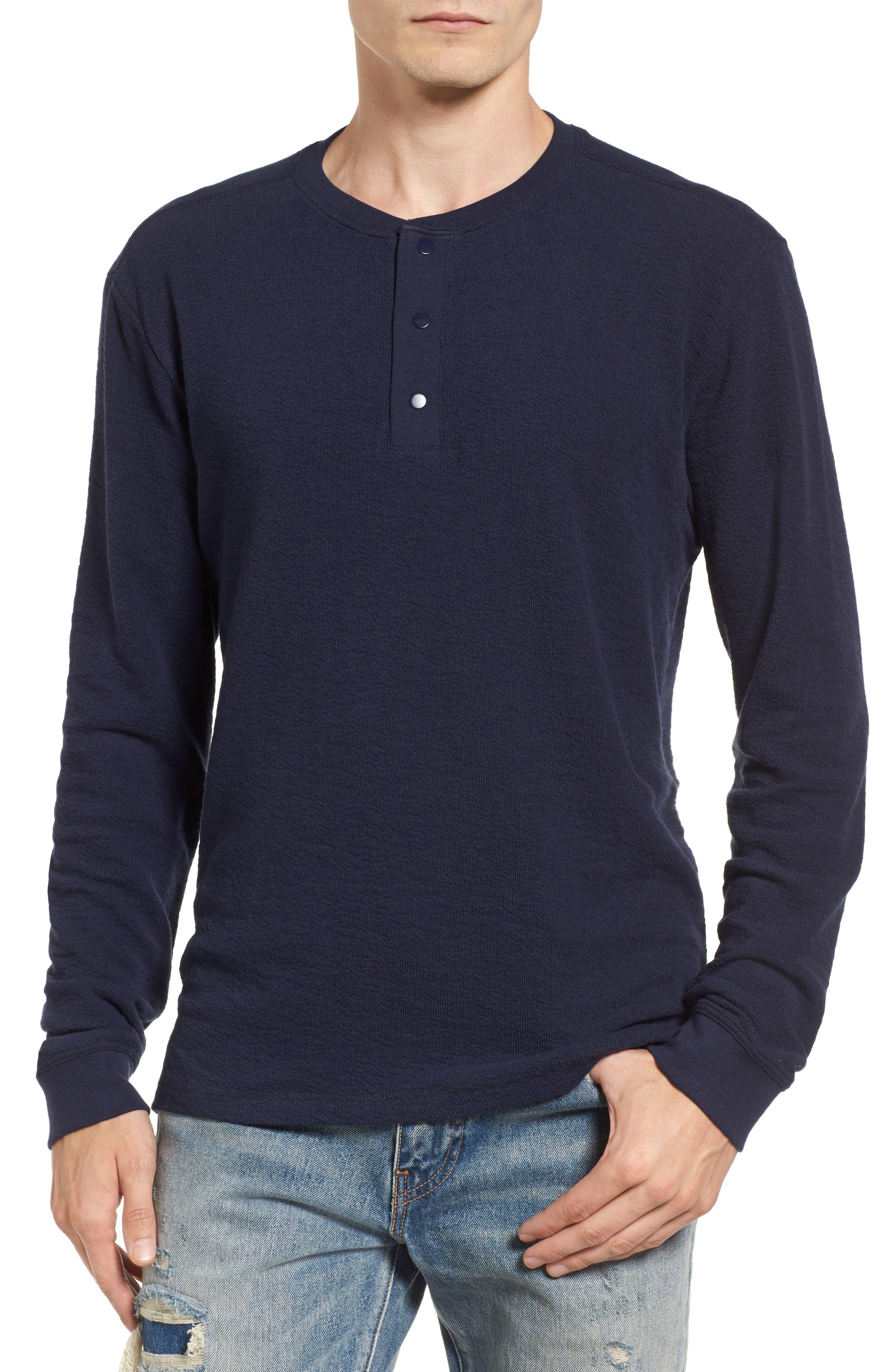 Treasure & Bond Canyon Long Sleeve Henley T-Shirt
