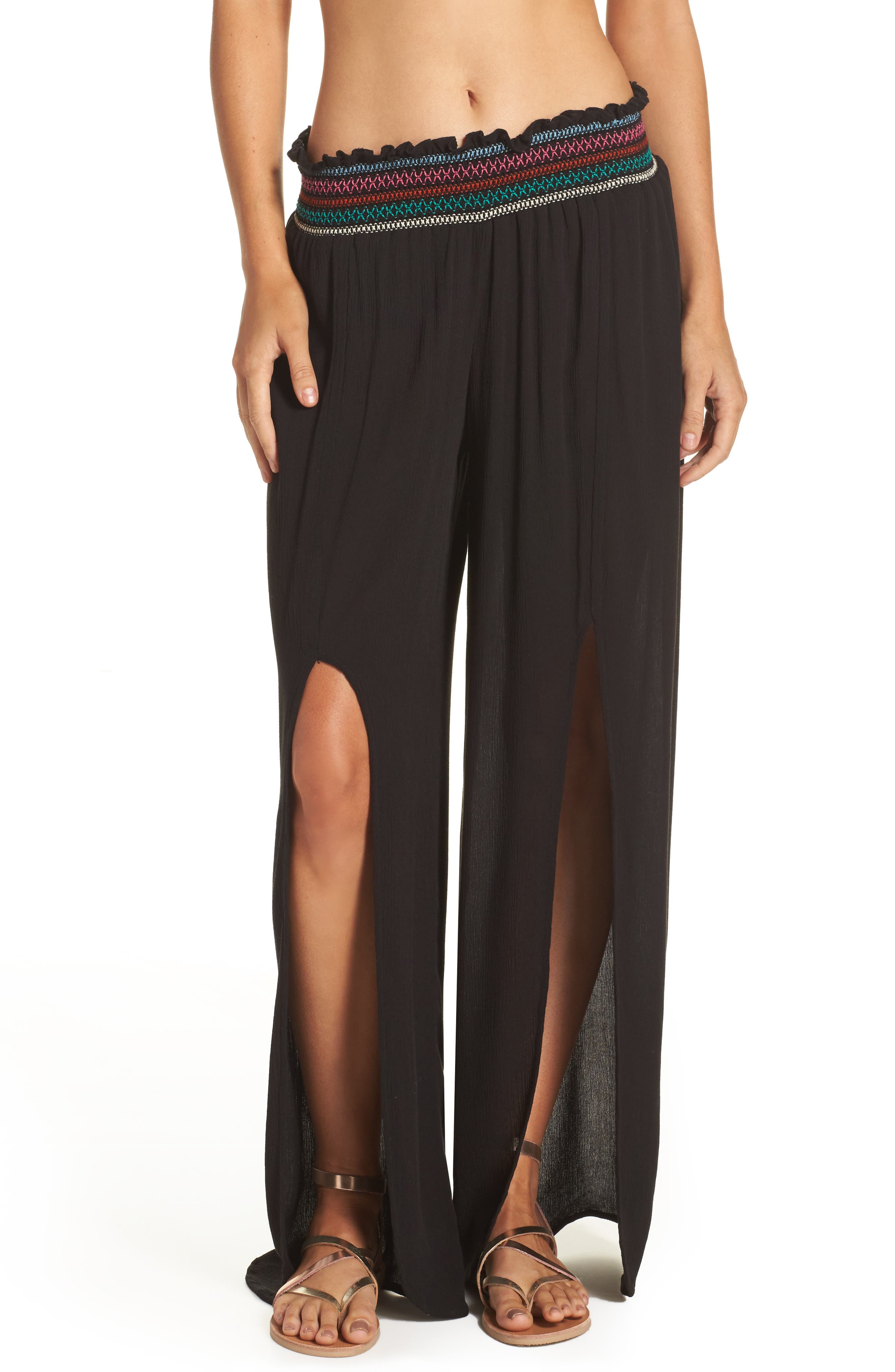 Crystal Cove Cover-Up Pants,                         Main,                         color, Black