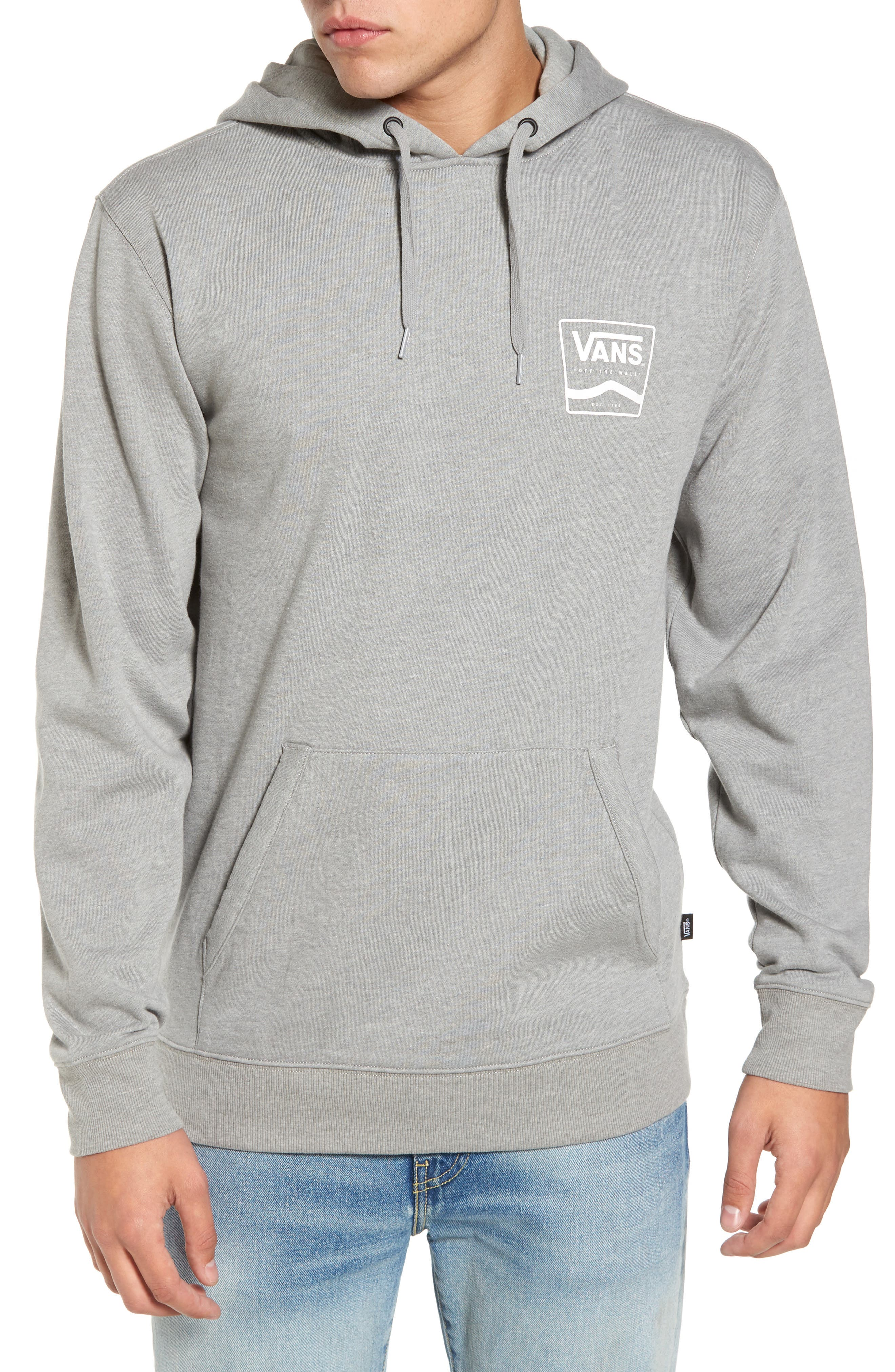 Side Striped II Hoodie,                             Main thumbnail 1, color,                             Cement Heather