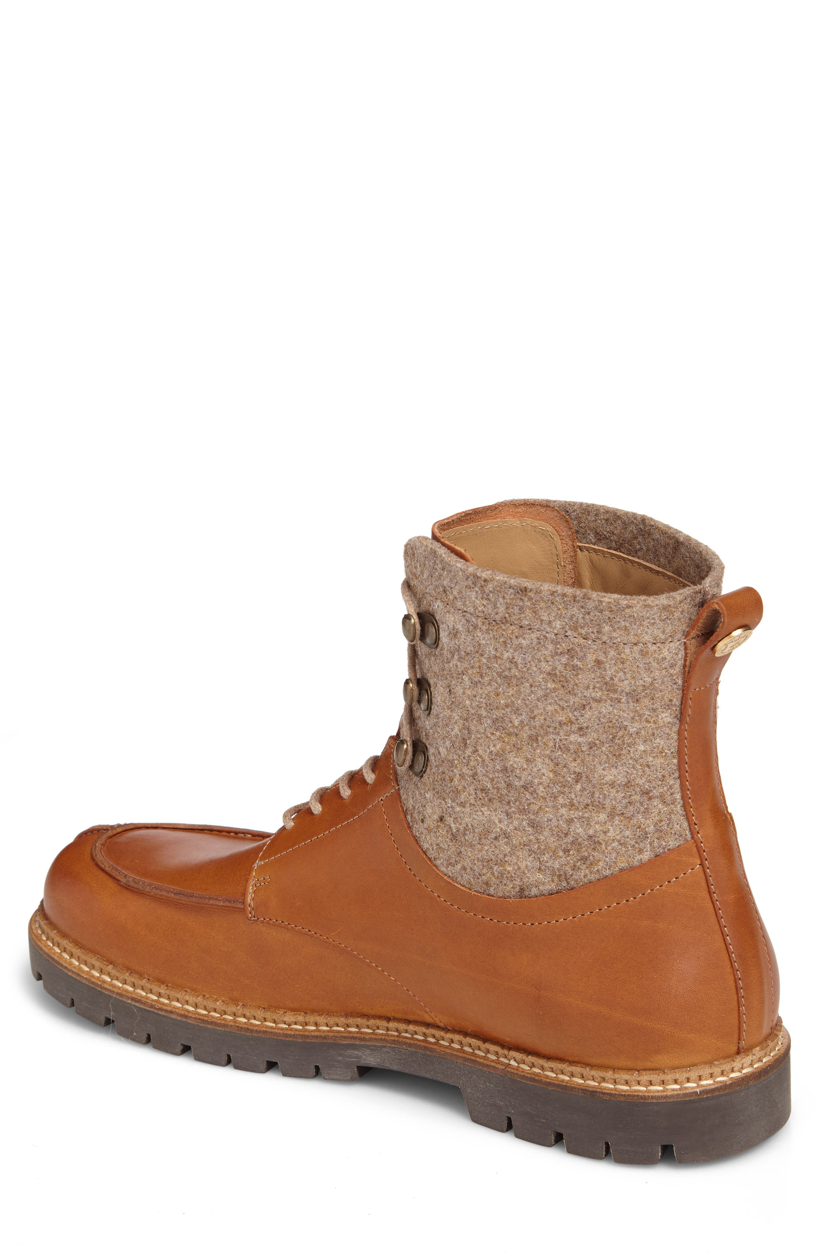 Timmins Split Toe Boot,                             Alternate thumbnail 3, color,                             Cuoio