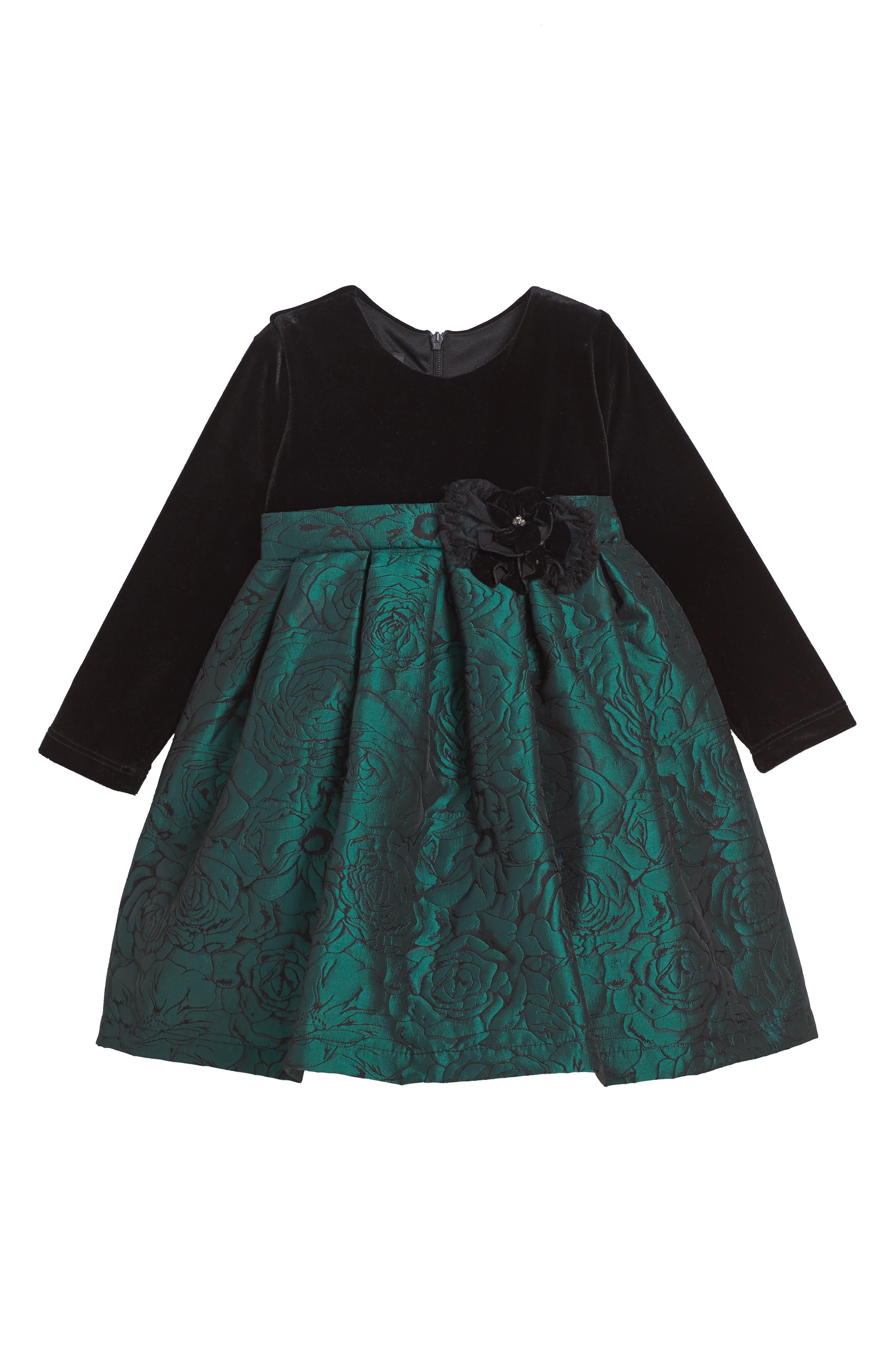 Mistletoe Dress,                         Main,                         color, Green