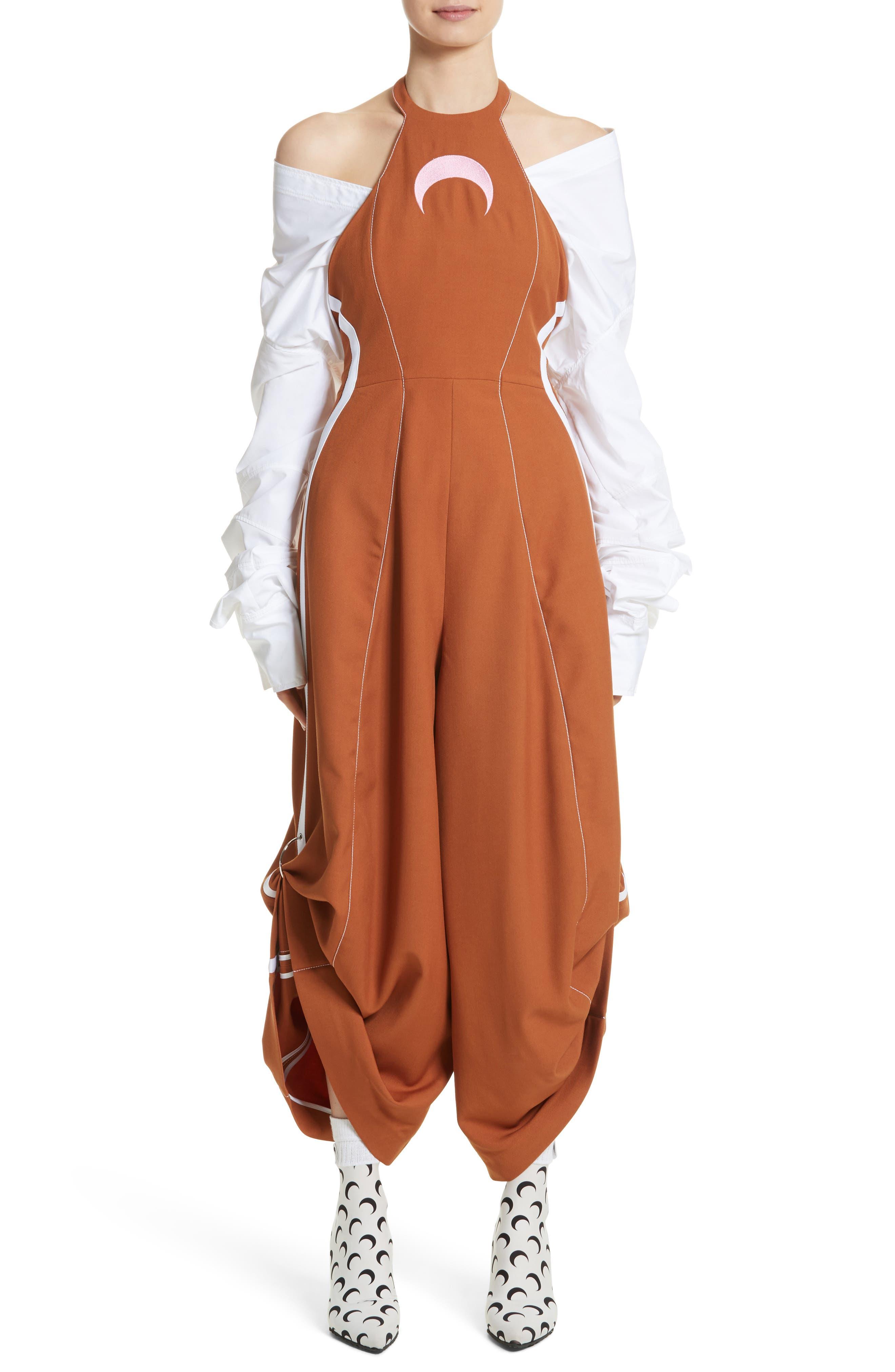 Wool Jumpsuit,                         Main,                         color, Brown