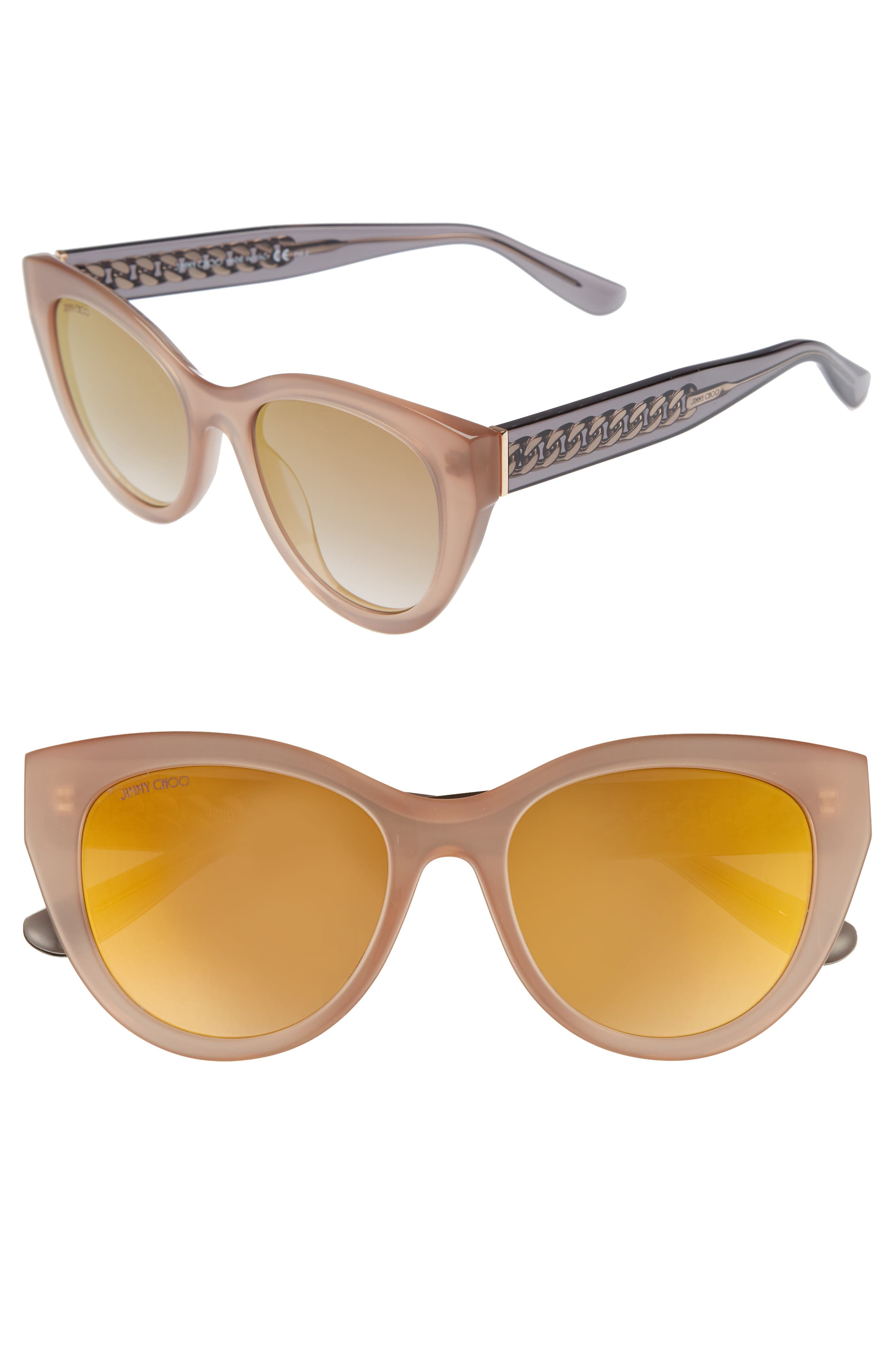 Chana 52mm Gradient Sunglasses,                             Main thumbnail 1, color,                             Nude