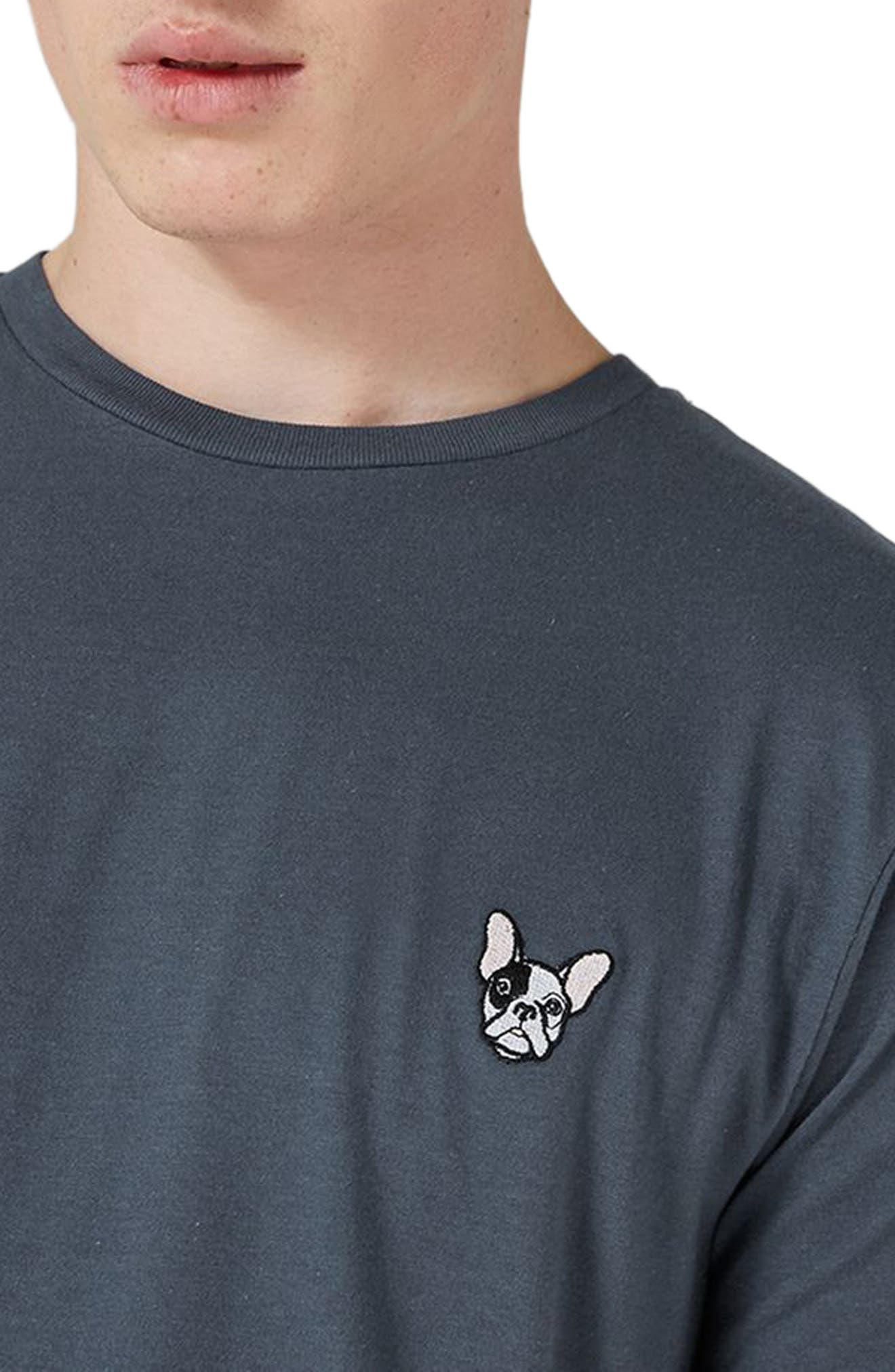 Alternate Image 3  - Topman Frenchie Patch T-Shirt