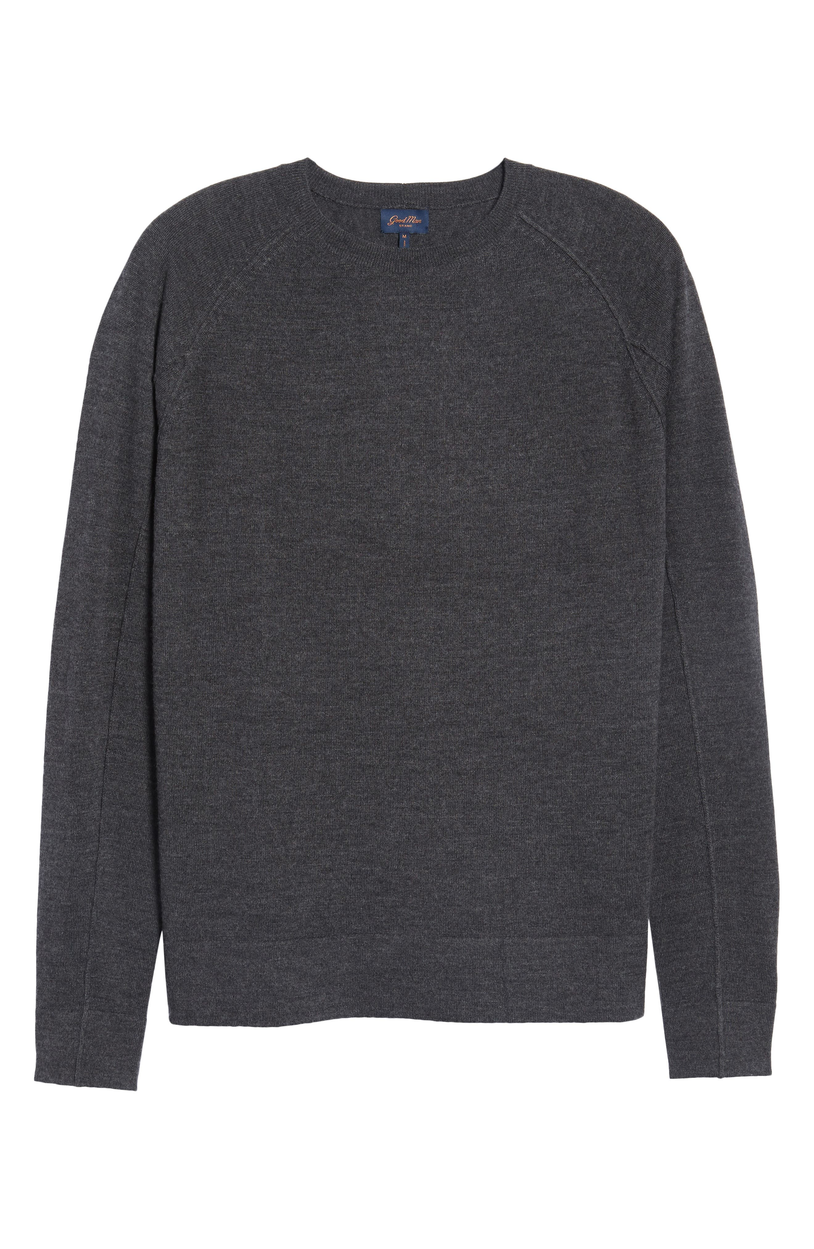Superlight Slim Modern Wool Sweater,                             Alternate thumbnail 6, color,                             Charcoal