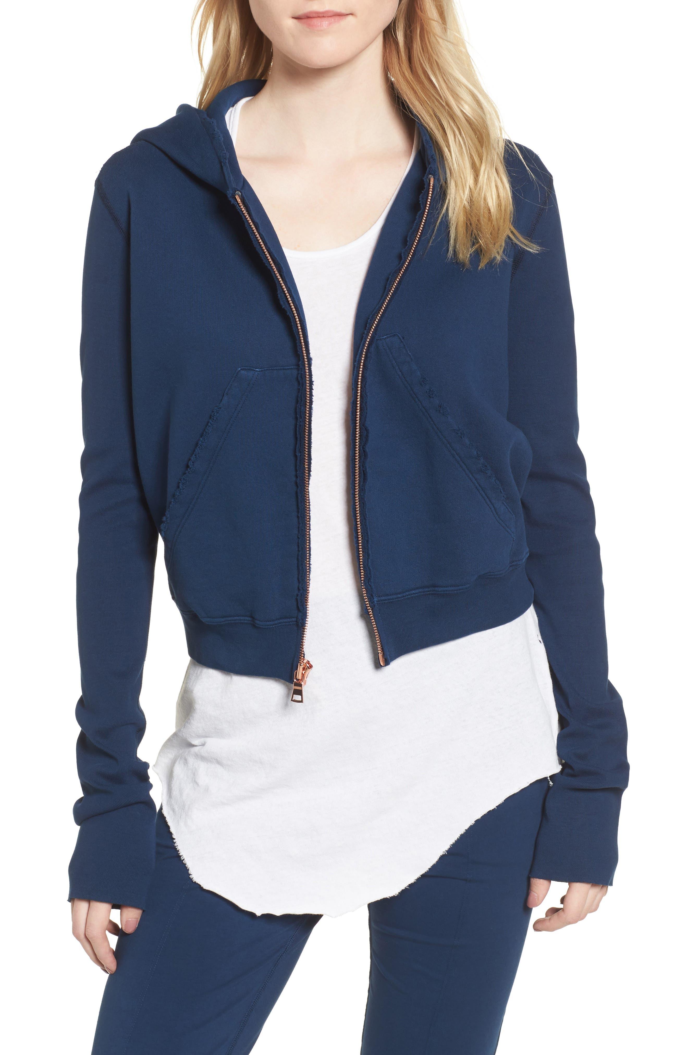 Zip Front Hoodie,                         Main,                         color, Blazer