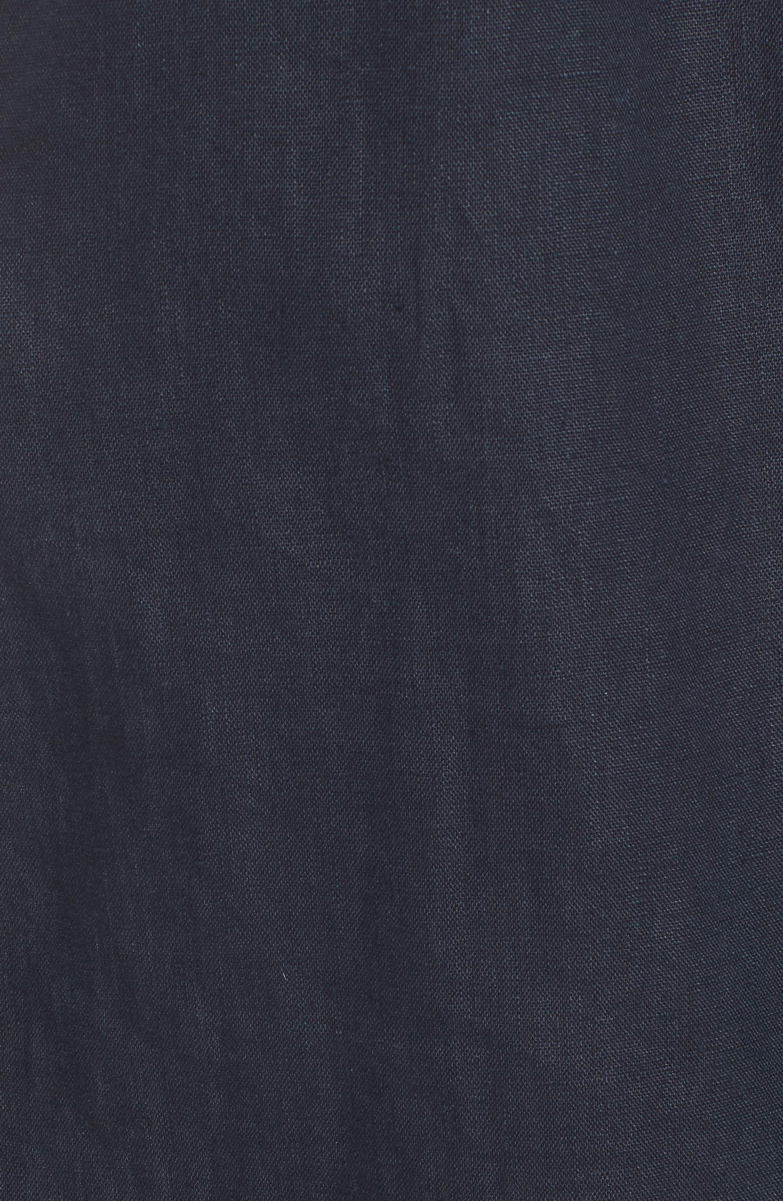 Pietro Strapless Crop Top,                             Alternate thumbnail 6, color,                             Plain Navy