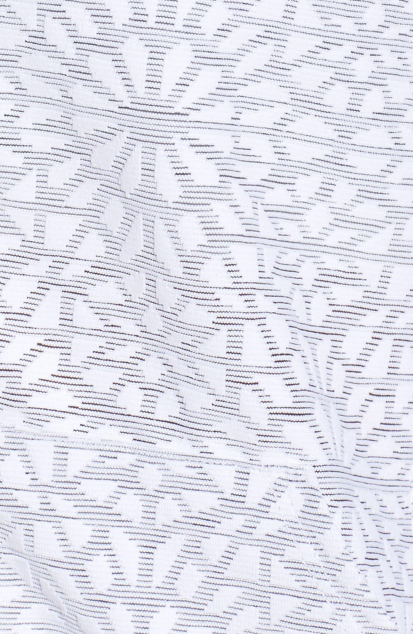 Cut it Close Mesh Bomber Jacket,                             Alternate thumbnail 6, color,                             White