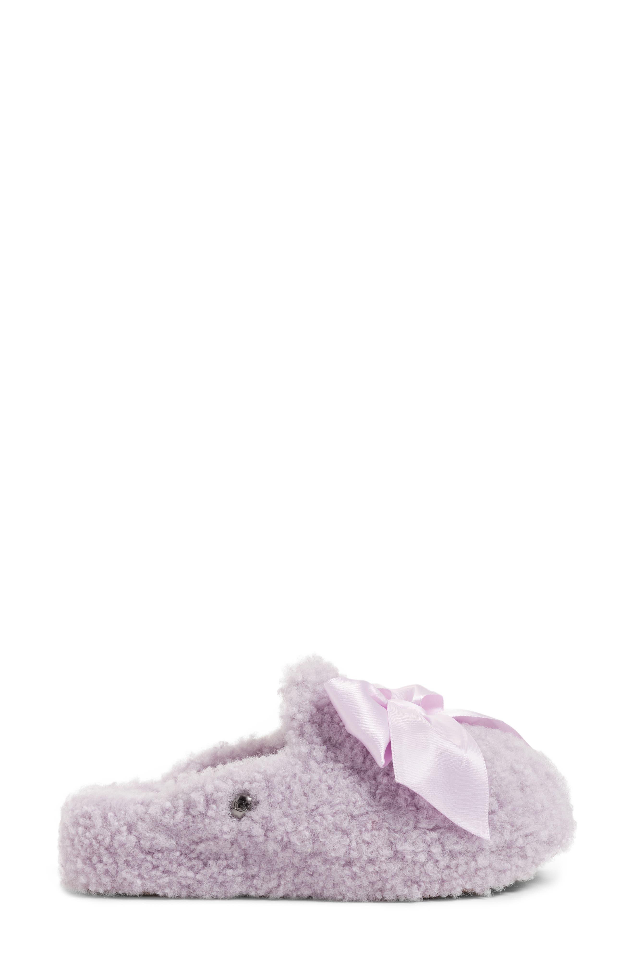 Addison Bow Slipper,                             Alternate thumbnail 3, color,                             Lavender Fog