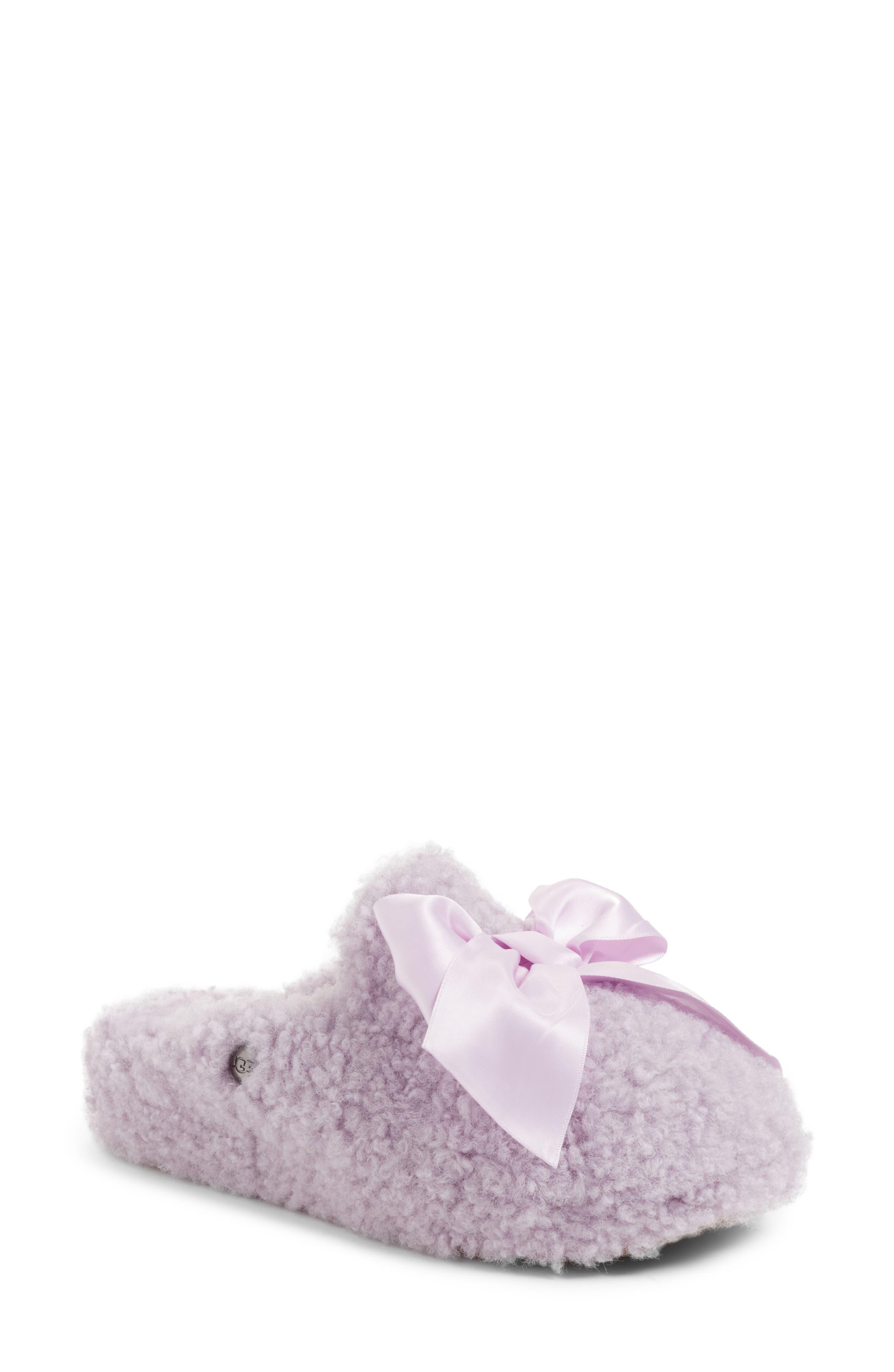 Addison Bow Slipper,                             Main thumbnail 1, color,                             Lavender Fog