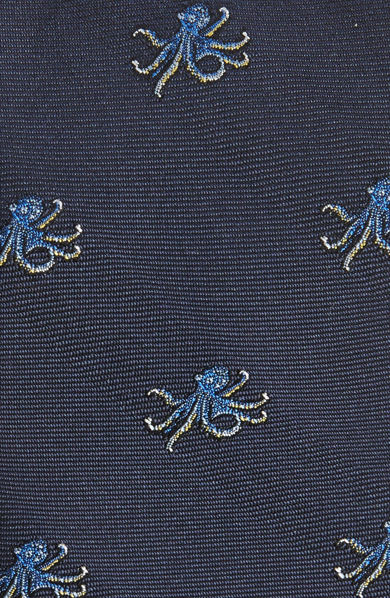Octopus Silk Tie,                             Alternate thumbnail 2, color,                             Navy