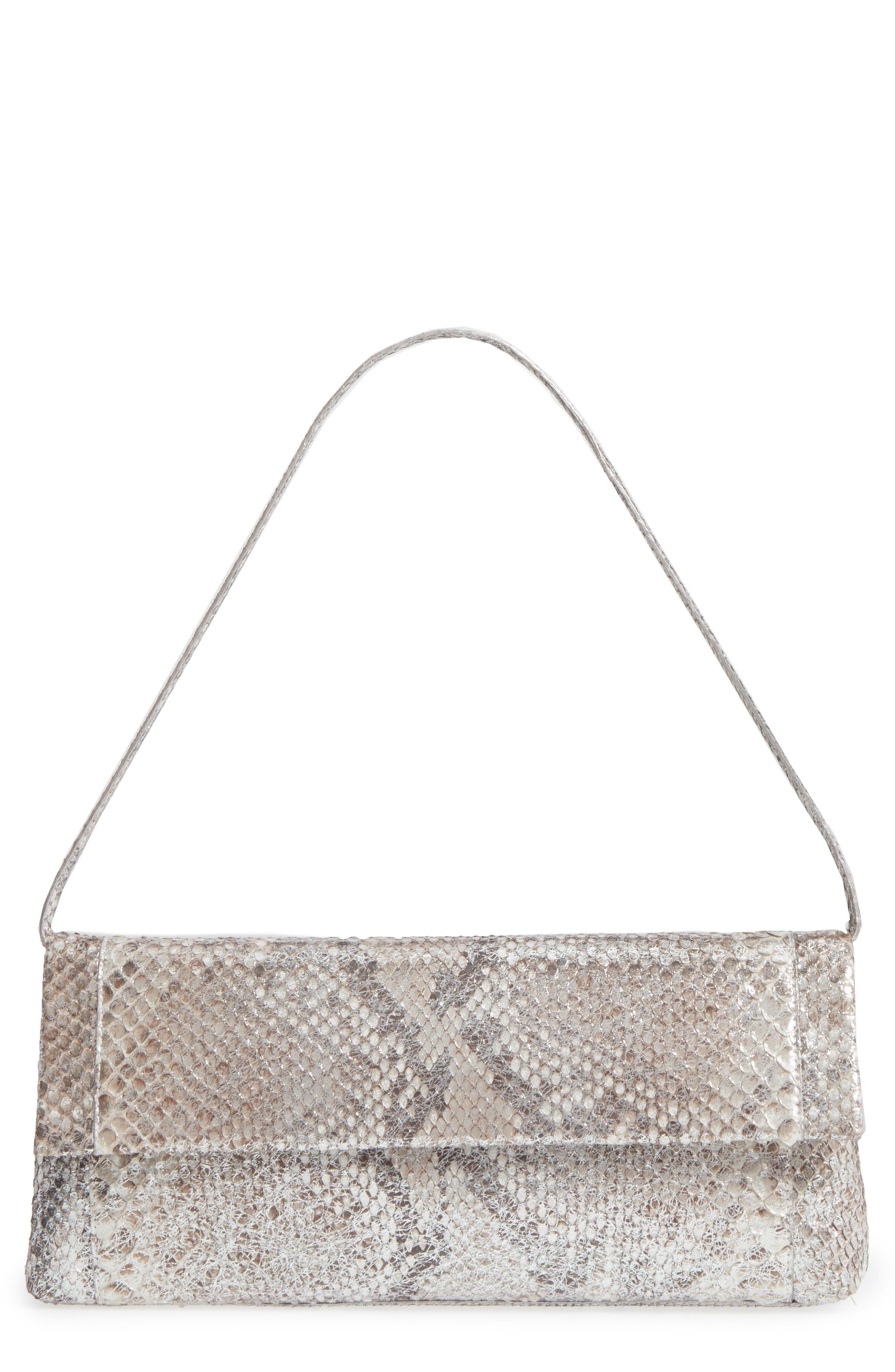 Main Image - Nancy Gonzalez Gotham Genuine Python Metallic Clutch