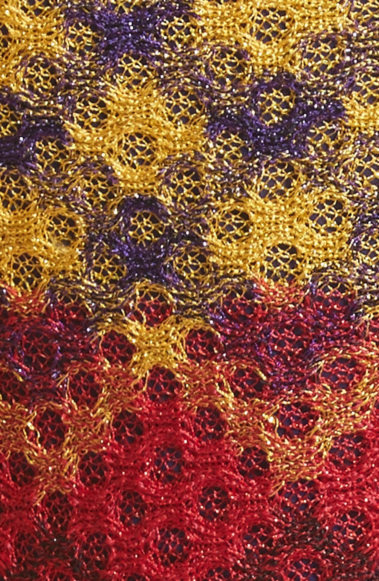 Metallic Knit Maxi Dress,                             Alternate thumbnail 5, color,                             Multi