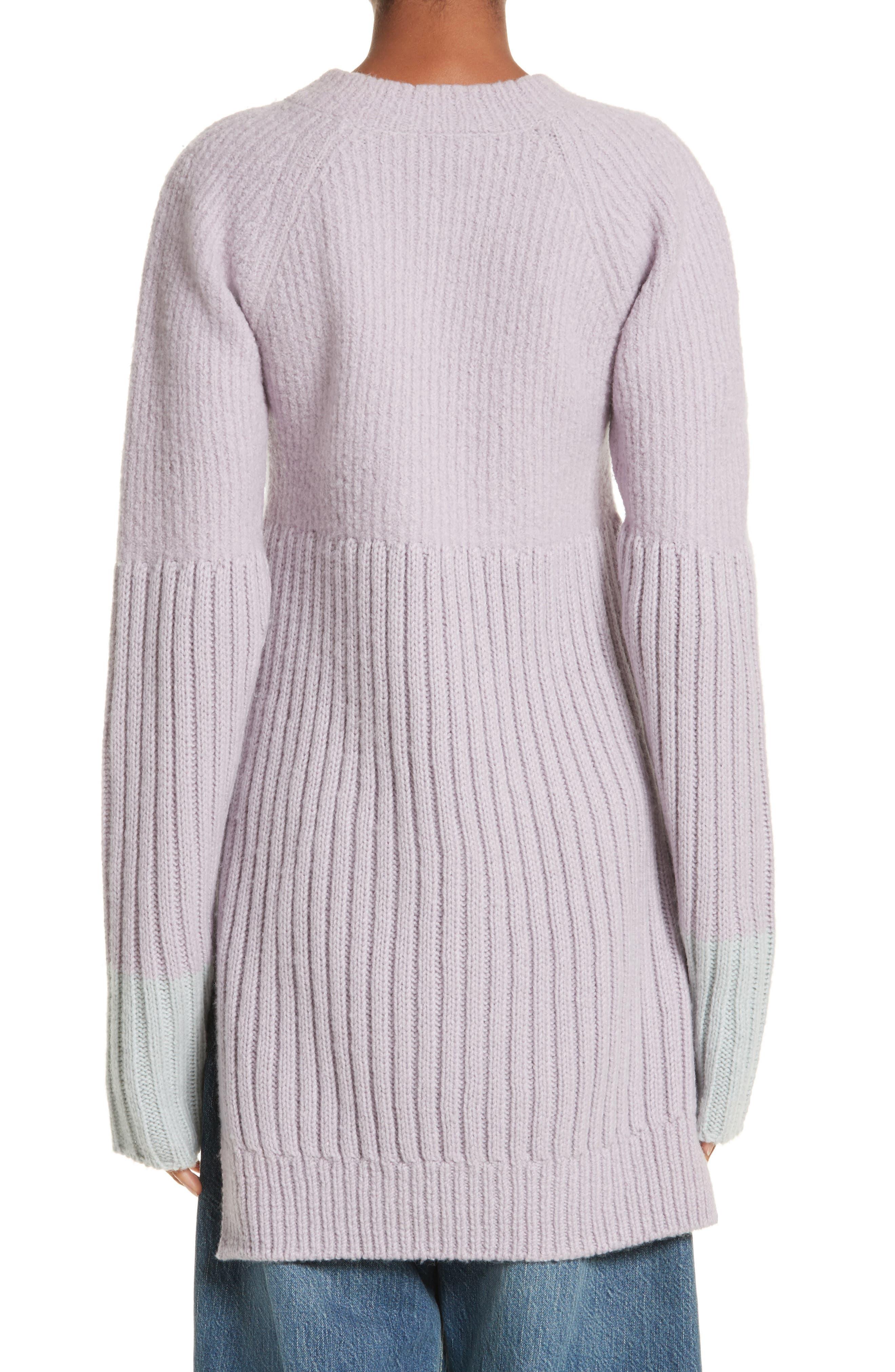 Wool Tunic Sweater,                             Alternate thumbnail 2, color,                             Lavendar