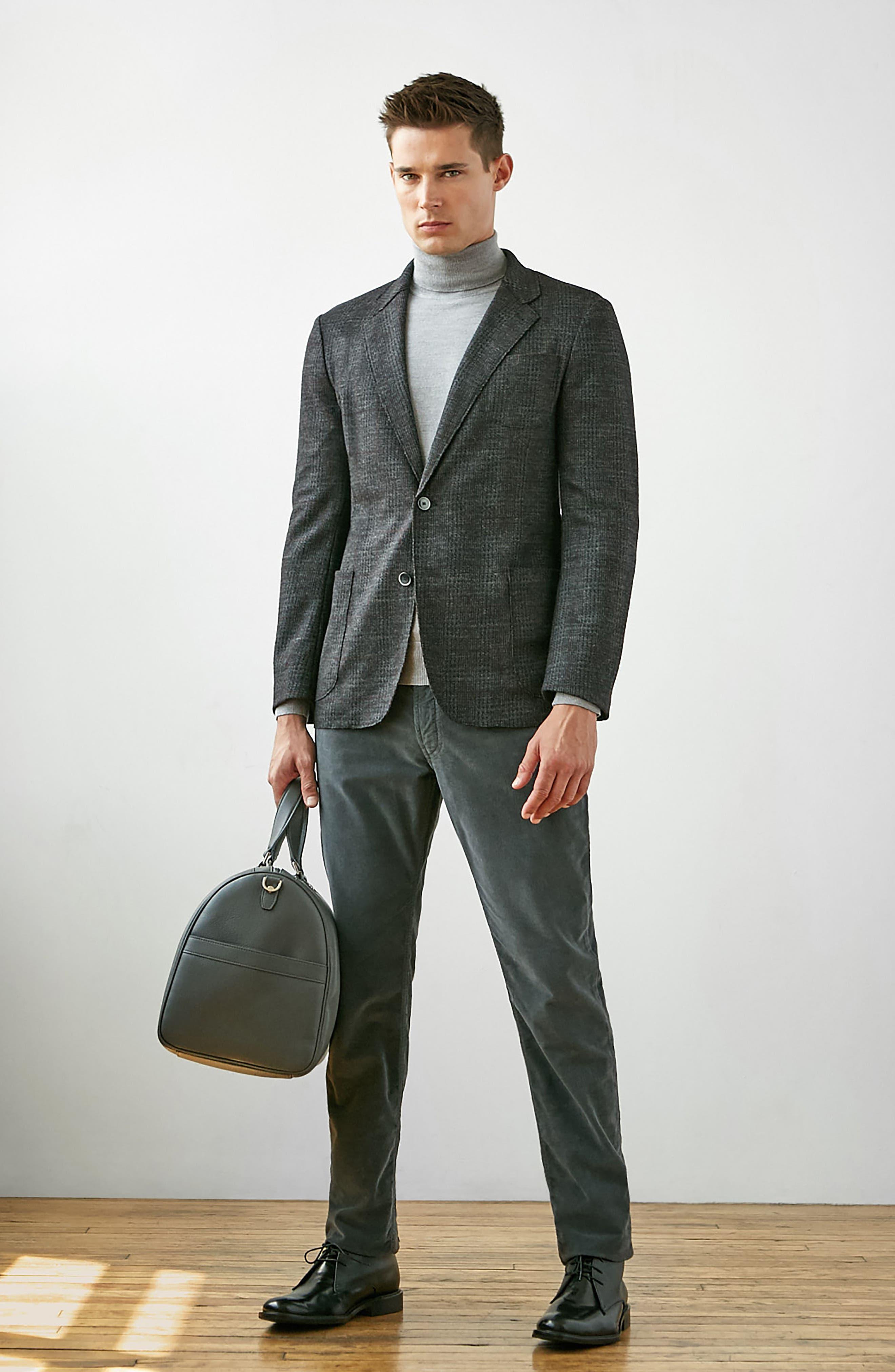 Alternate Image 6  - Bugatchi Plaid Wool Blazer