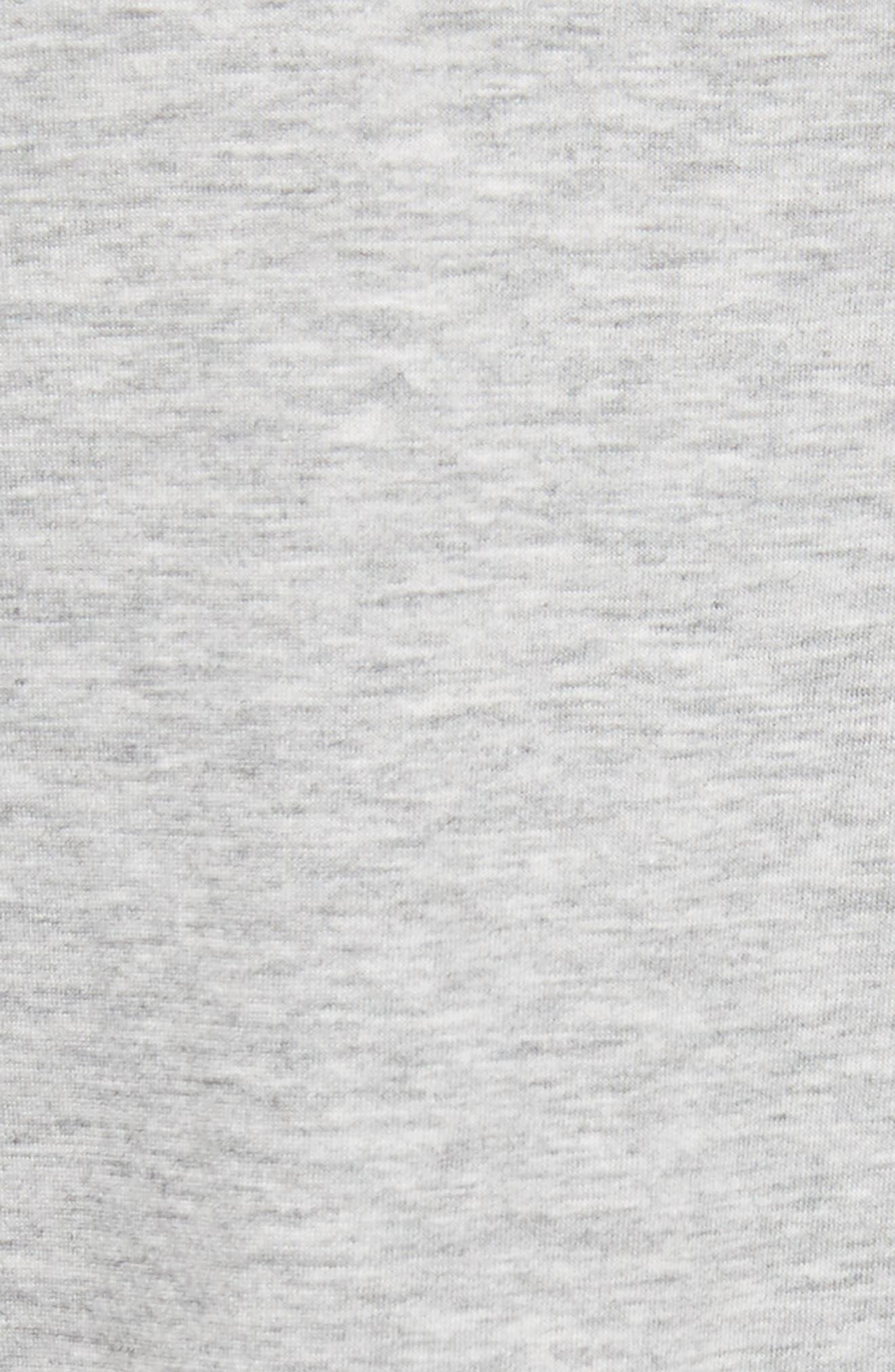 Bird Patch Jersey Top,                             Alternate thumbnail 5, color,                             Grey Heather