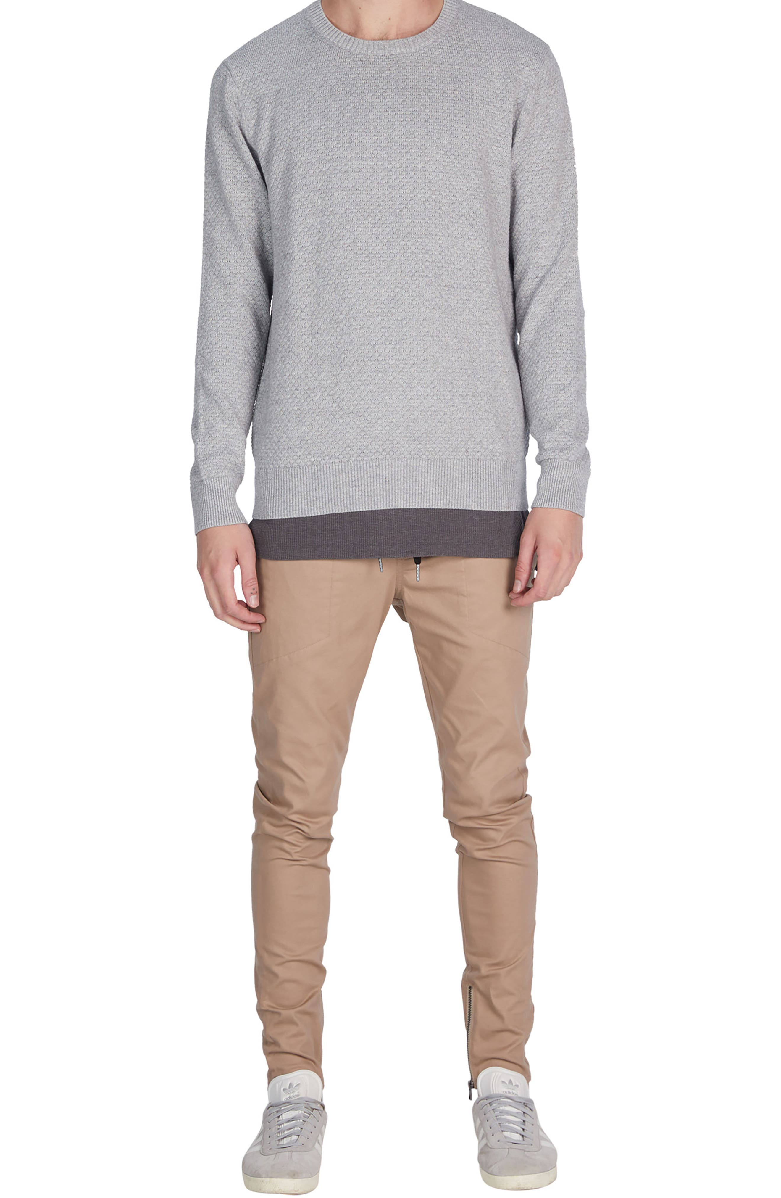 Grip Crewneck Sweater,                             Alternate thumbnail 5, color,                             Grey Marle