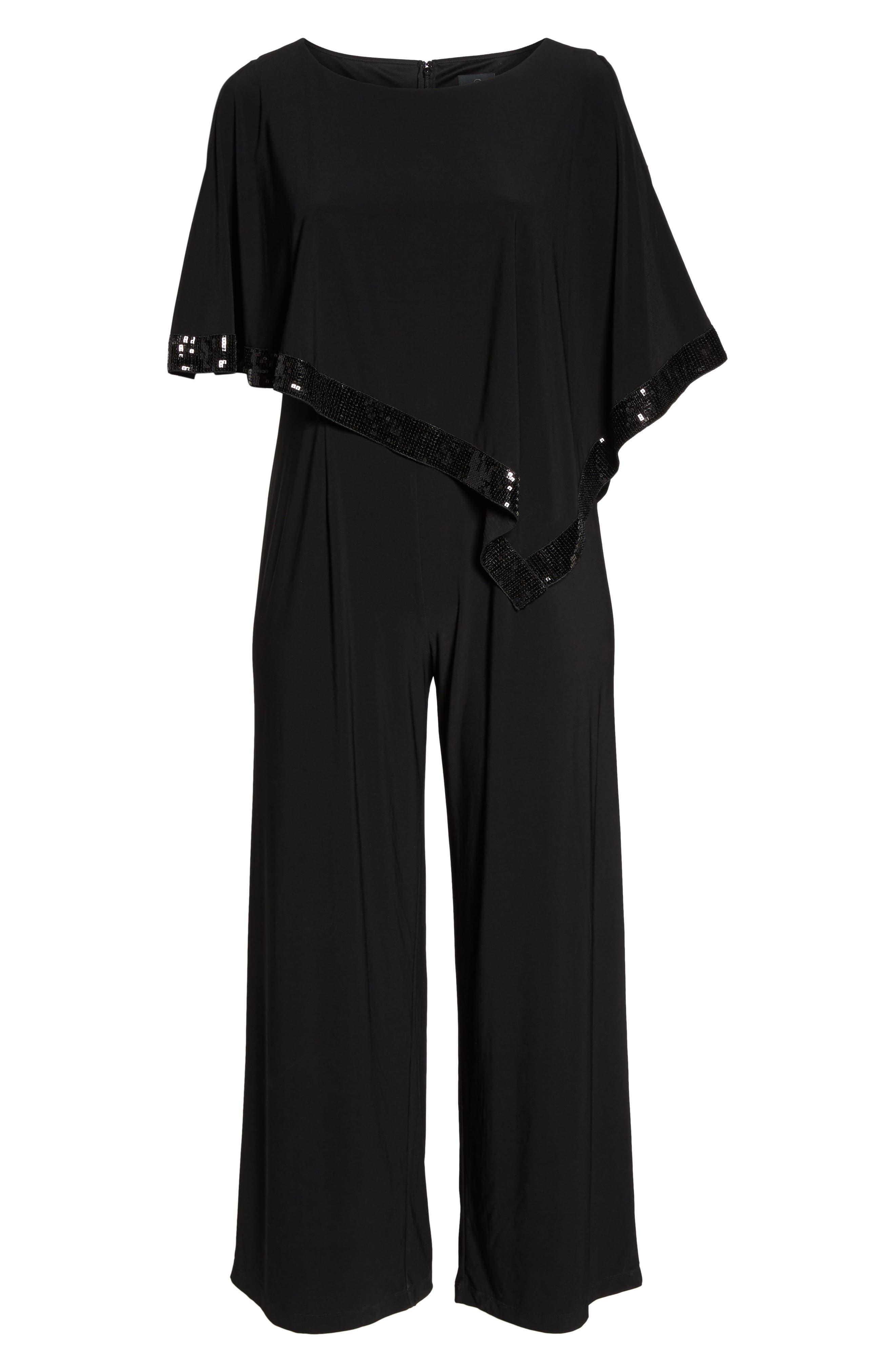 Alternate Image 6  - Adrianna Papell Matte Jersey Capelet Jumpsuit (Plus Size)