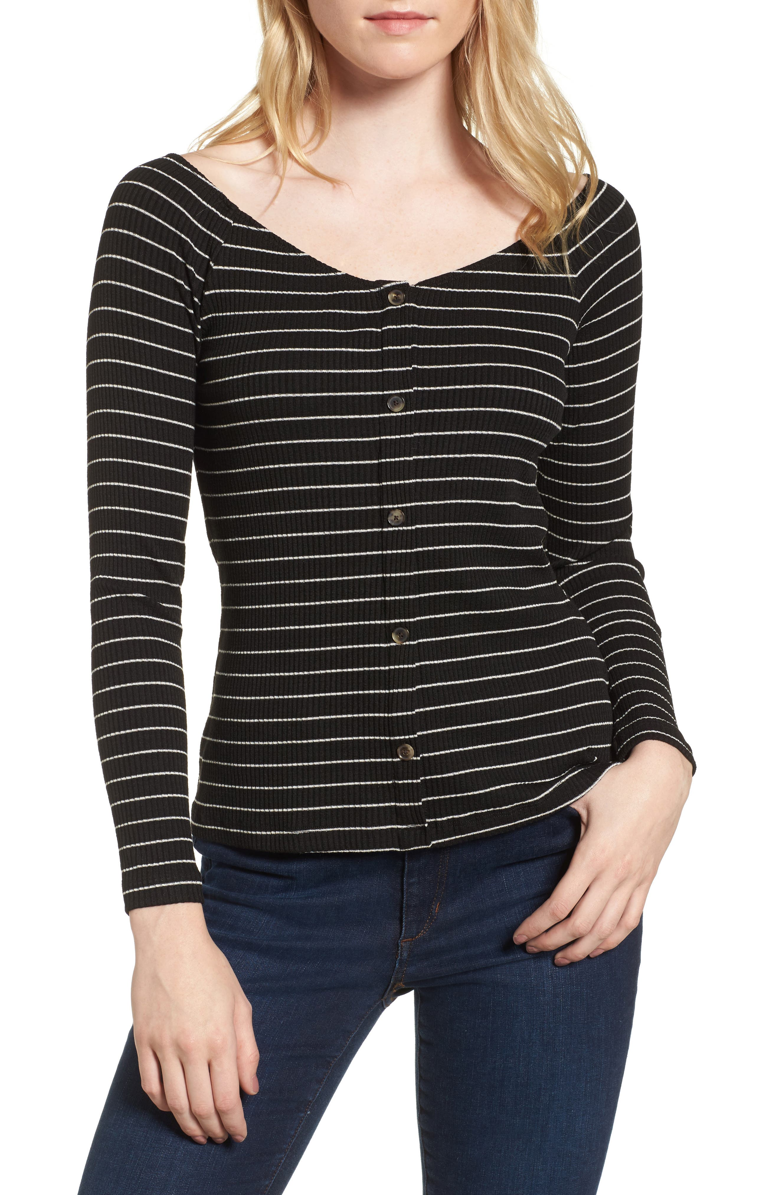 Amour Vert Isadora Ribbed Top