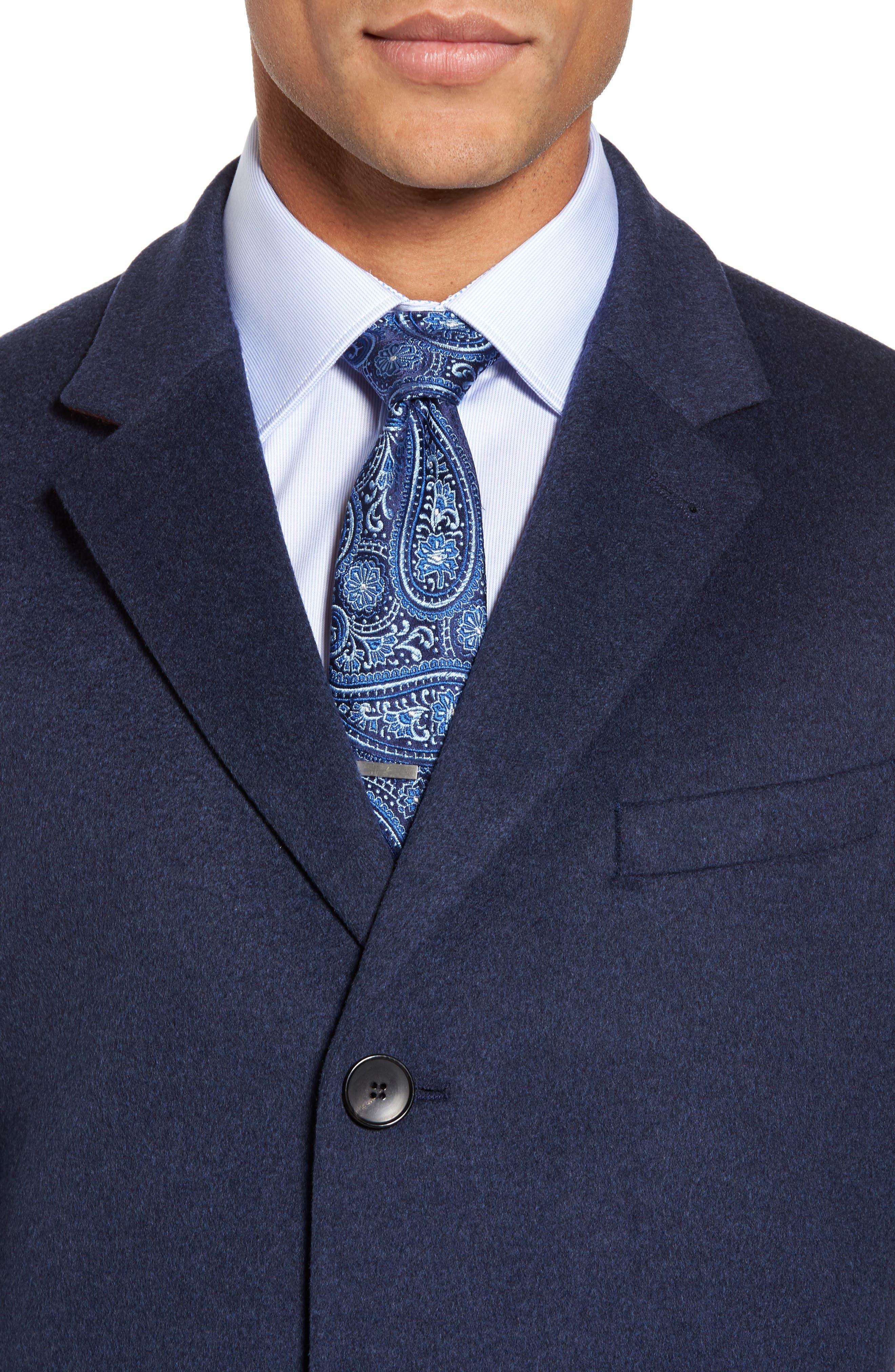 Alternate Image 4  - BOSS Nye Wool & Cashmere Topcoat