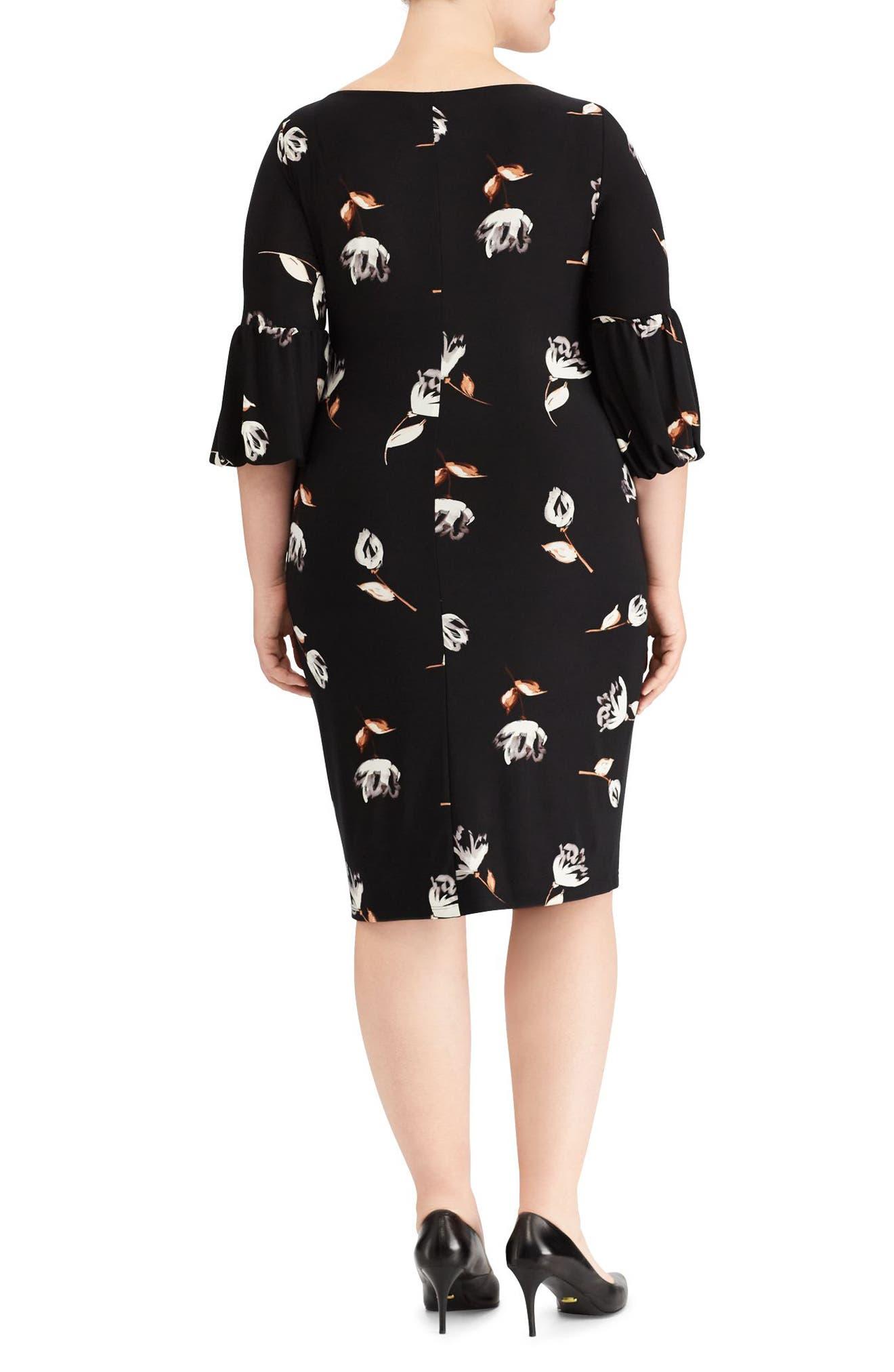 Alternate Image 2  - Lauren Ralph Lauren Joelle Edzell Floral Dress (Plus Size)