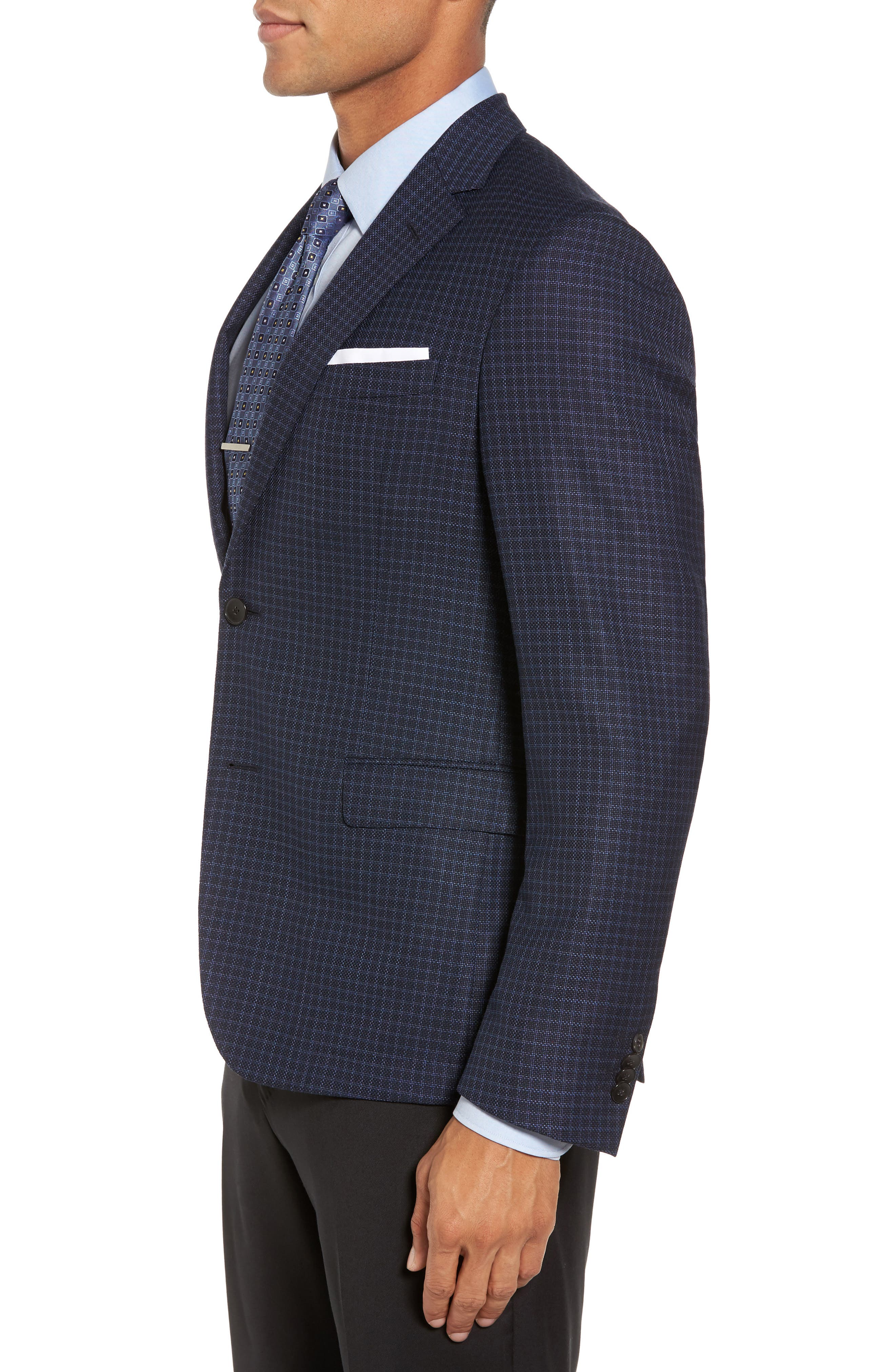 Alternate Image 3  - BOSS Nobis Trim Fit Check Wool Sport Coat