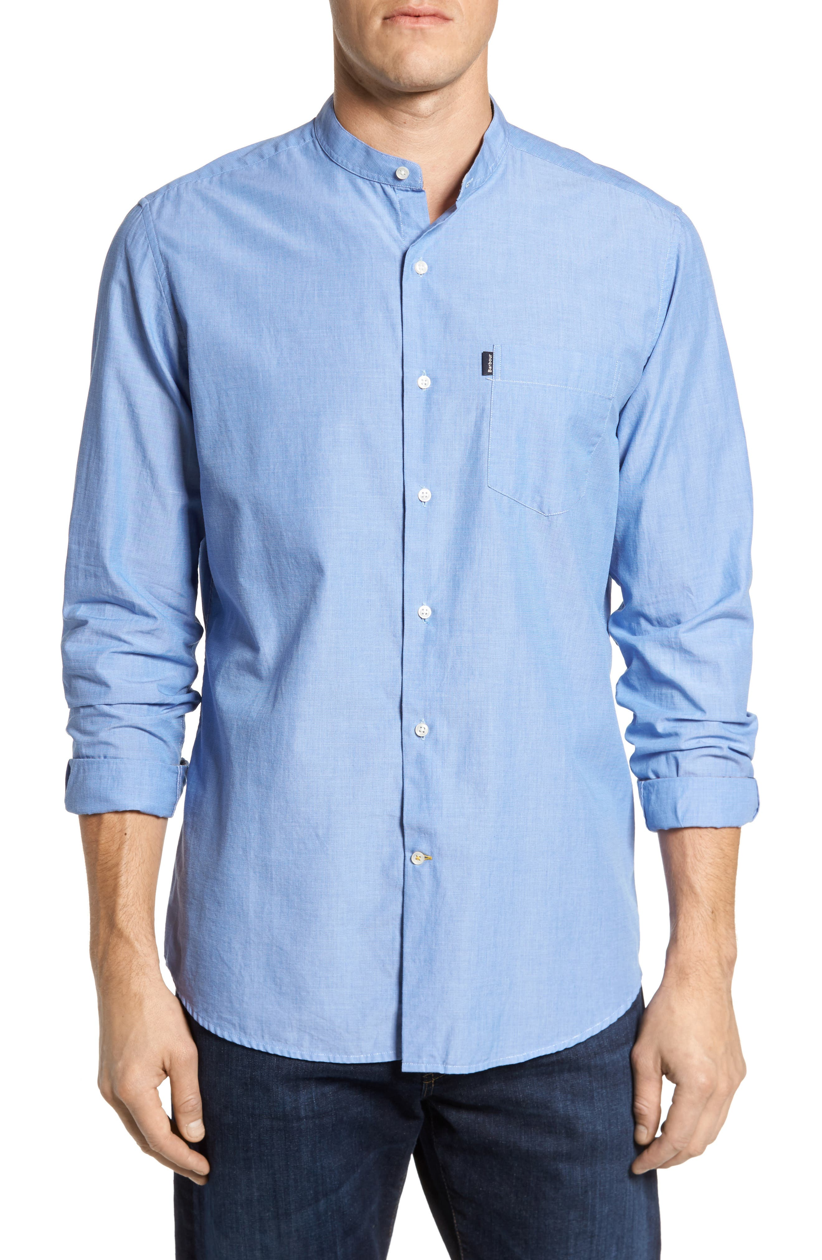 Fairfield Tailored Fit Sport Shirt,                         Main,                         color, Chambray