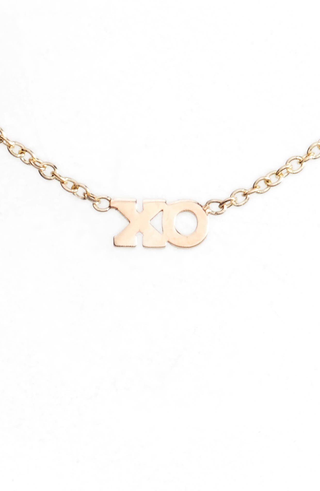 Zoë Chicco XO Pendant Necklace