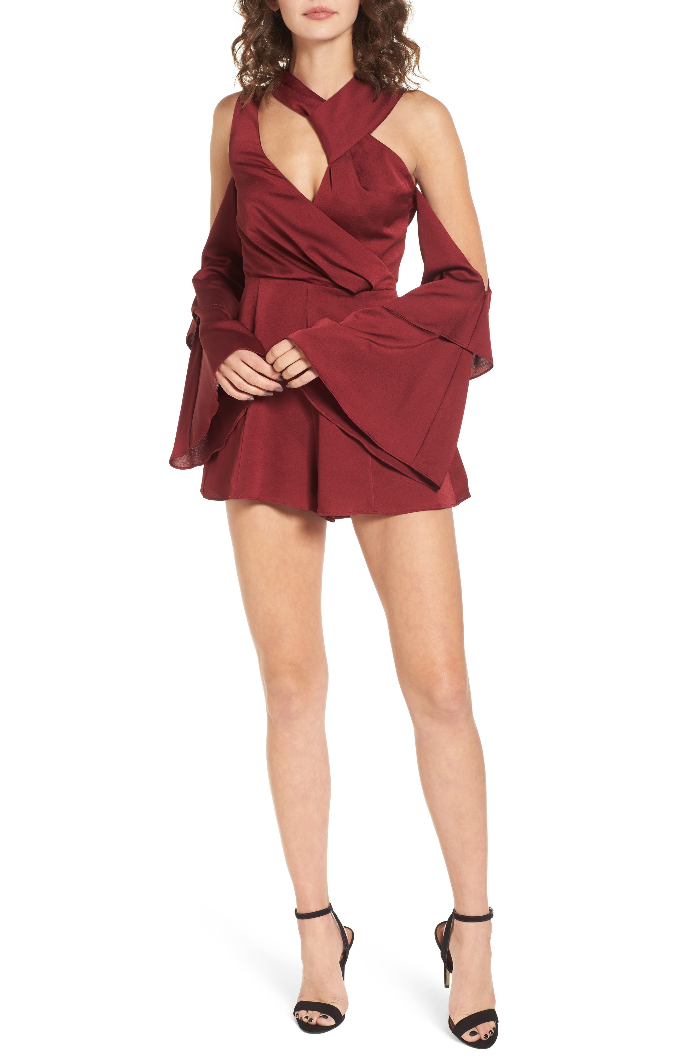 Alternate Image 1 Selected - Keepsake the Label Transcend Cold Shoulder Romper