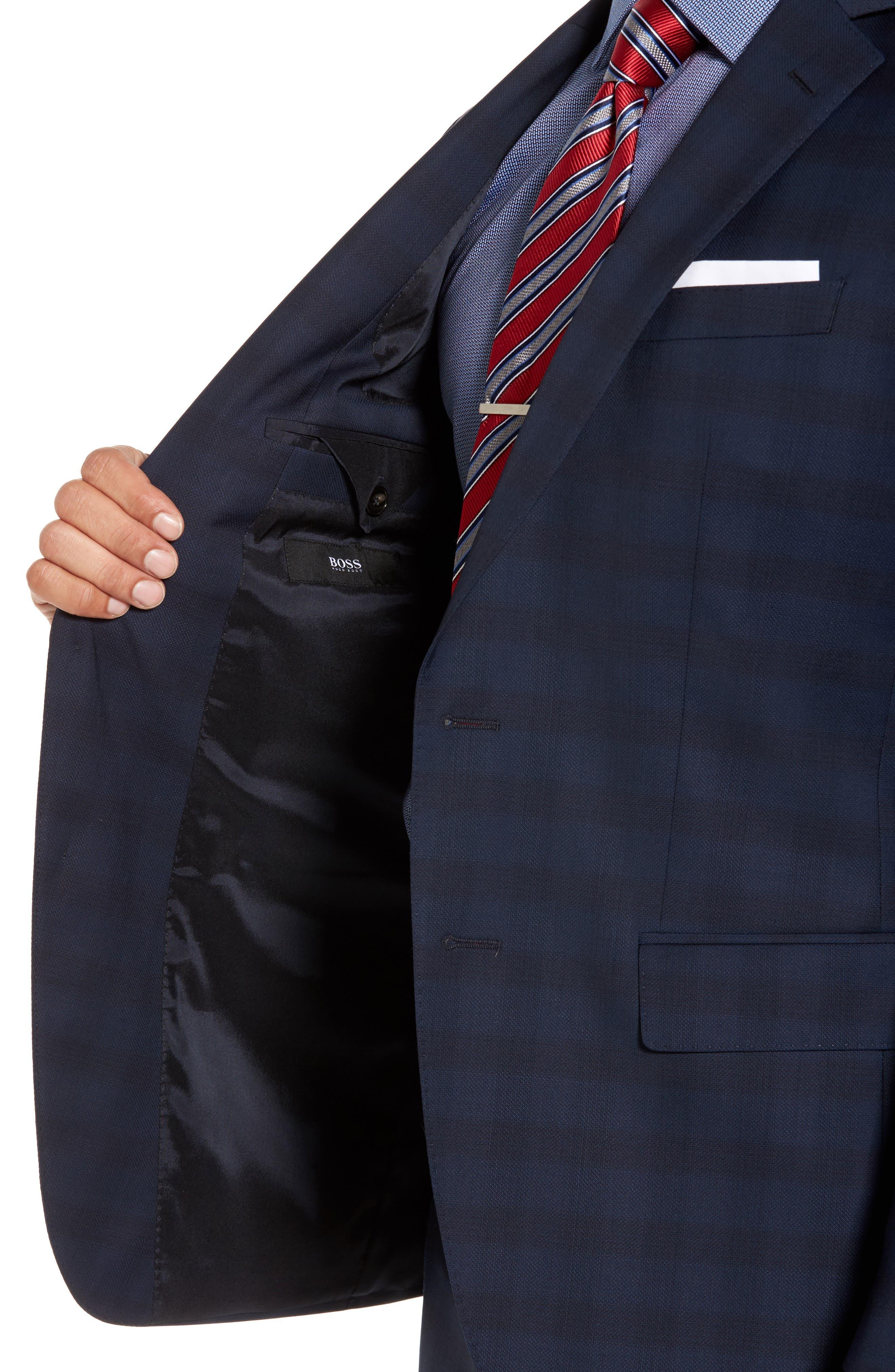 Alternate Image 4  - BOSS Huge/Genius Trim Fit Plaid Wool Suit