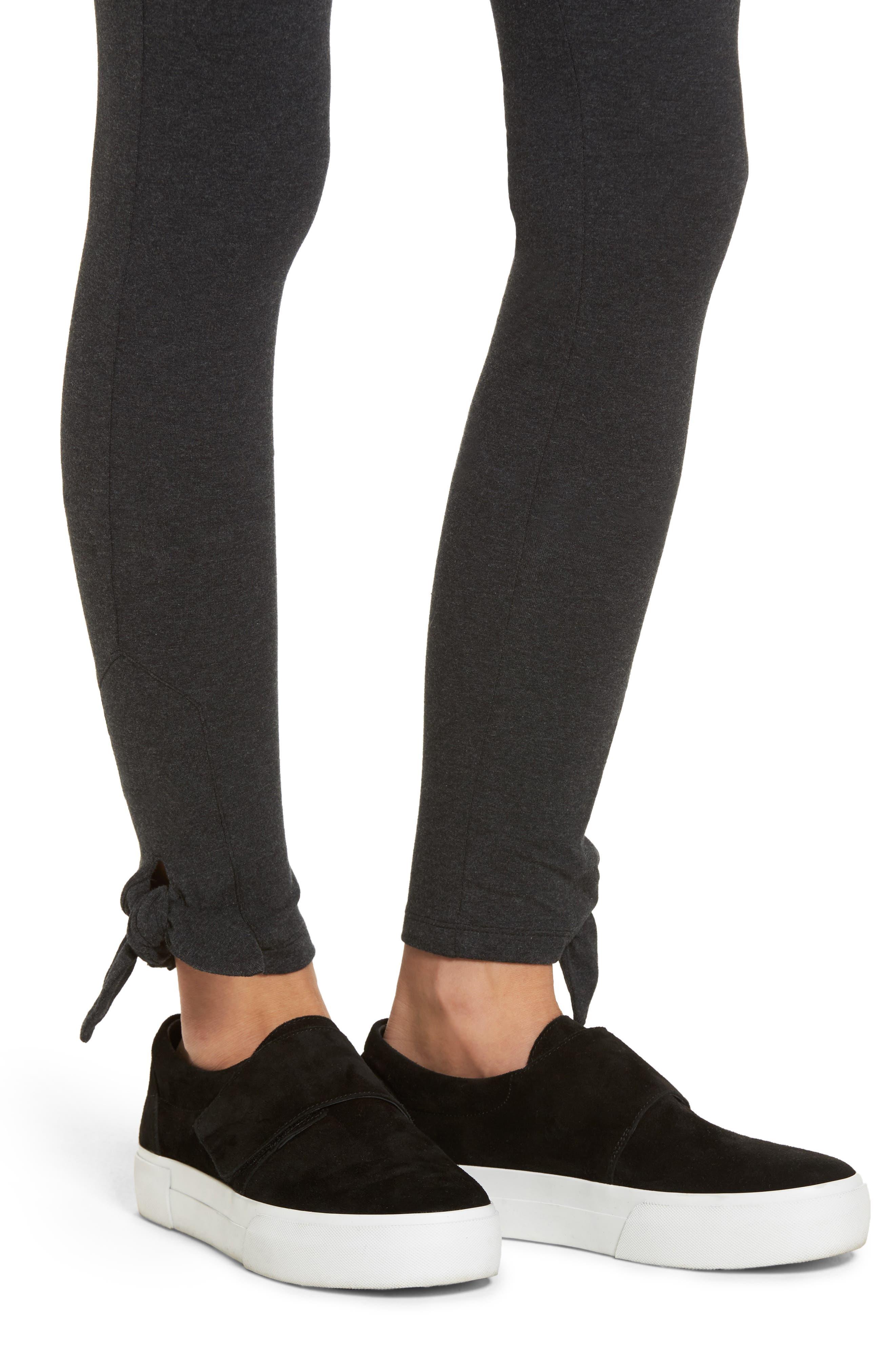 Alternate Image 4  - Socialite Bow Hem Leggings