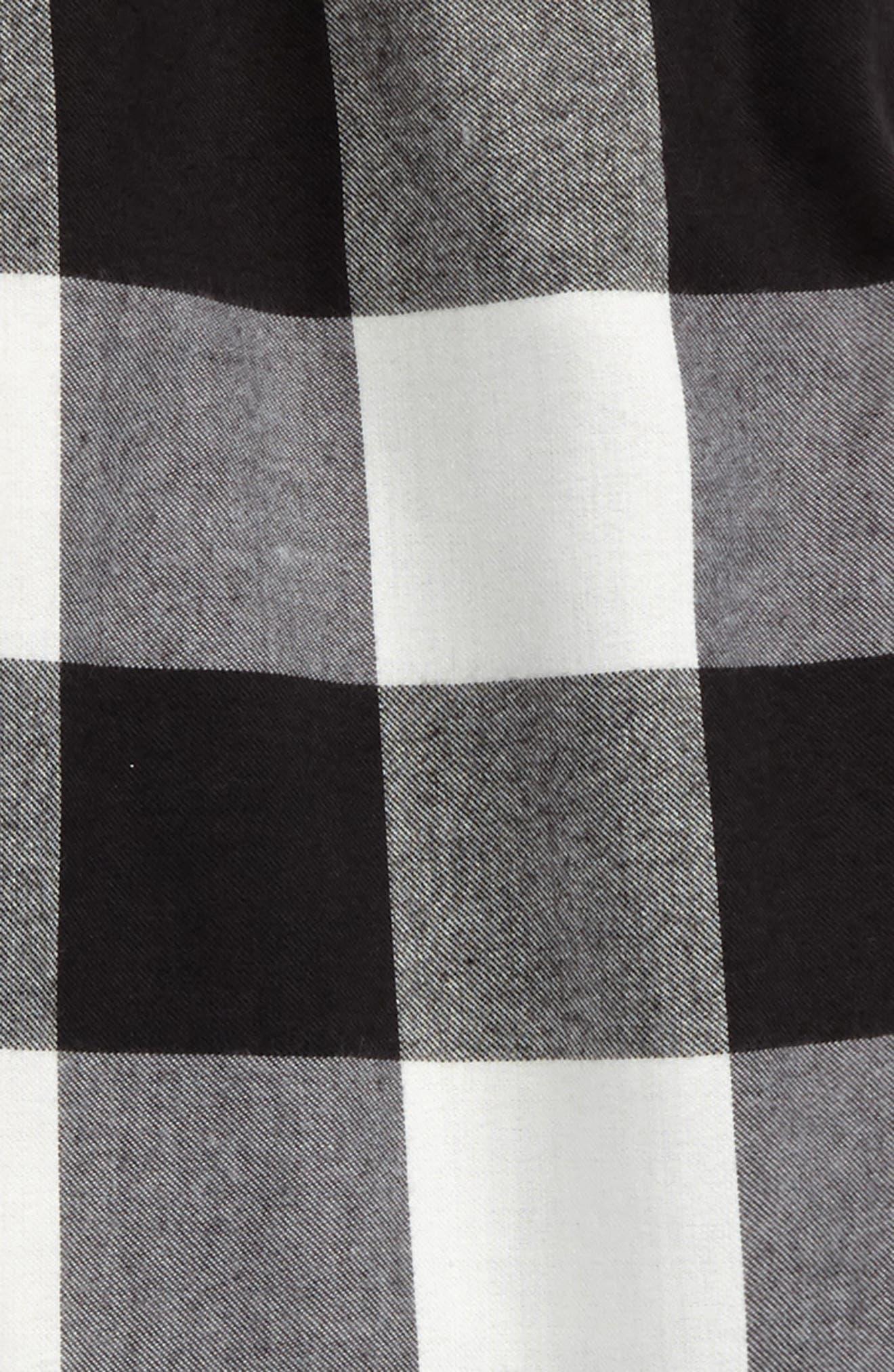Flannel Jogger Pants,                             Alternate thumbnail 2, color,                             Black- Ivory