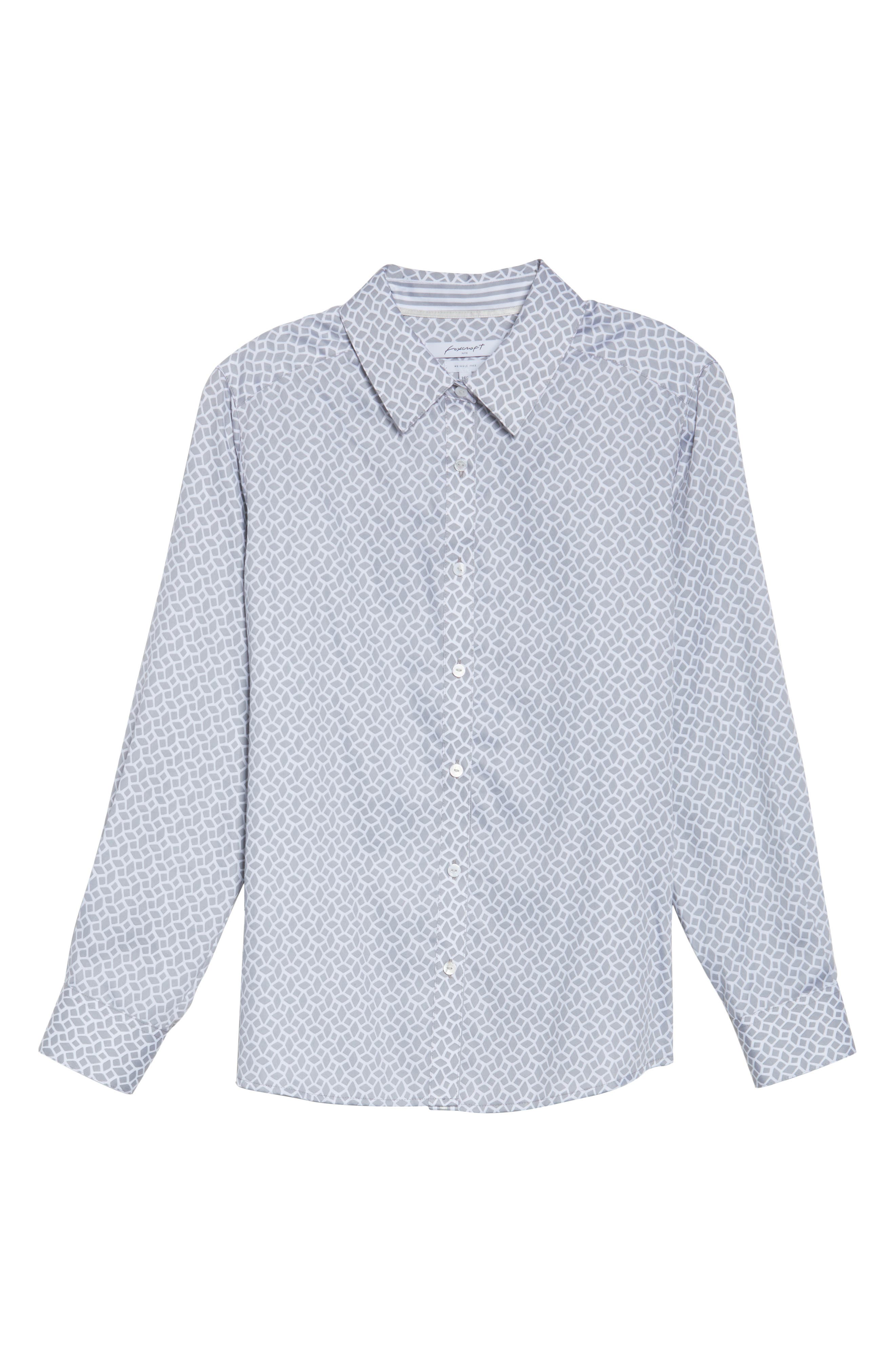 Alternate Image 6  - Foxcroft Ava Geo Print Shirt (Plus Size)