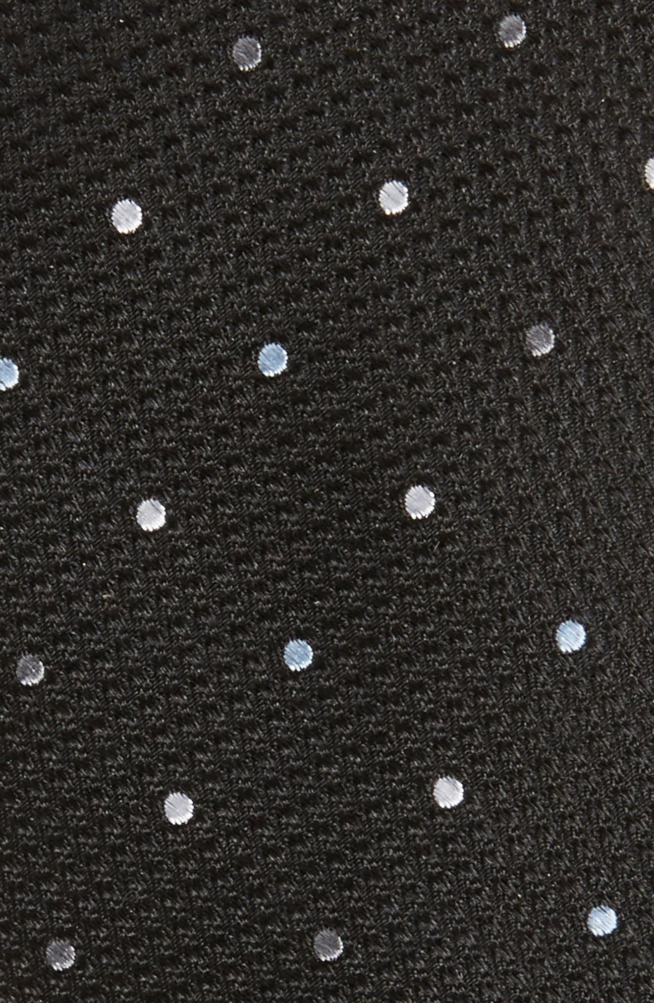 Dot Silk Tie,                             Alternate thumbnail 2, color,                             Black