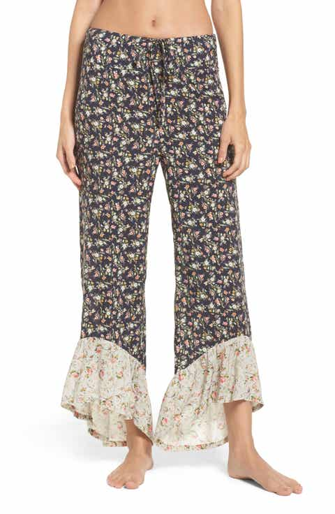 LACAUSA Floral Pajama Pants