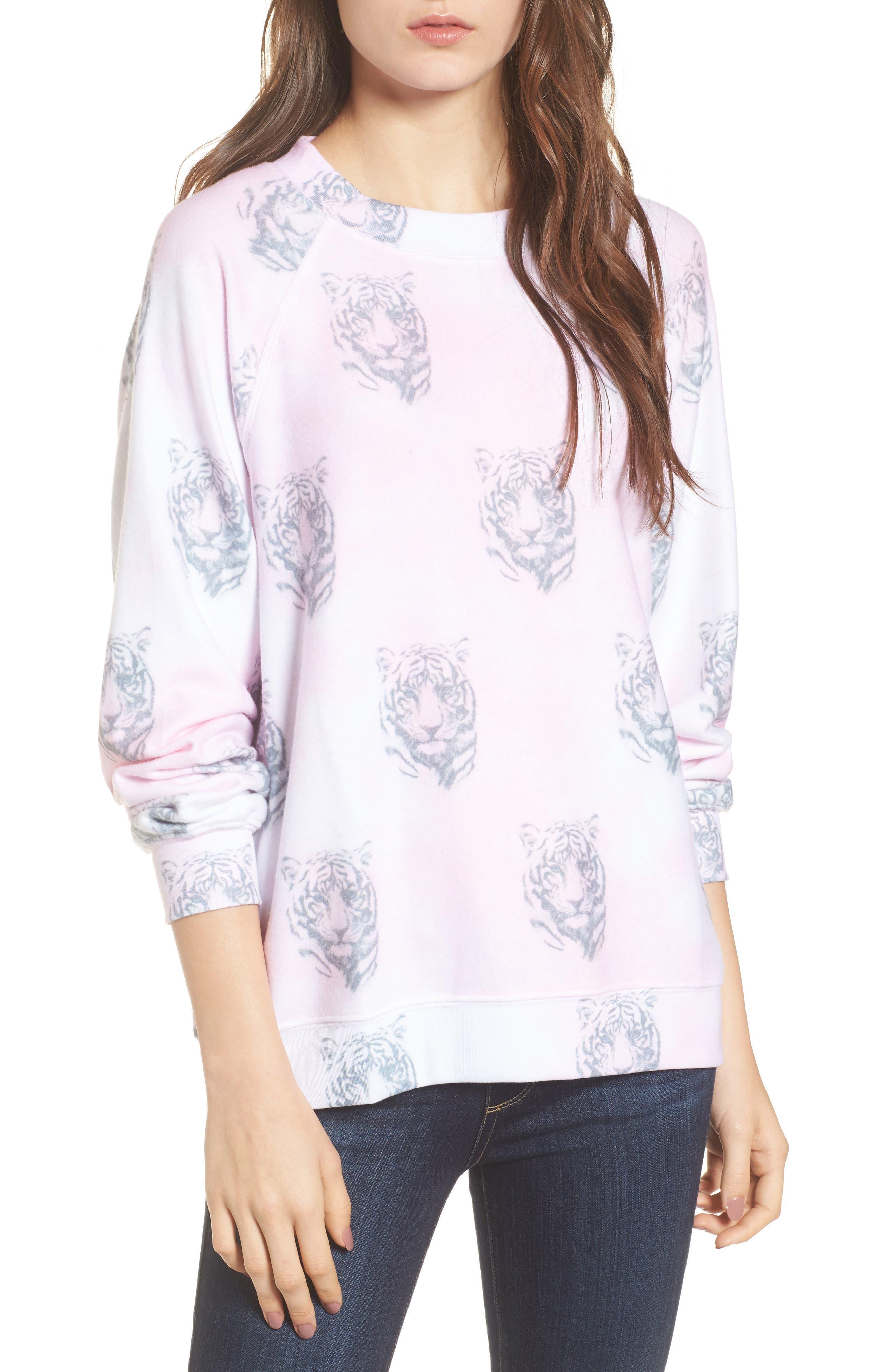 Bengals - Sommers Sweatshirt,                             Main thumbnail 1, color,                             Pink Flush