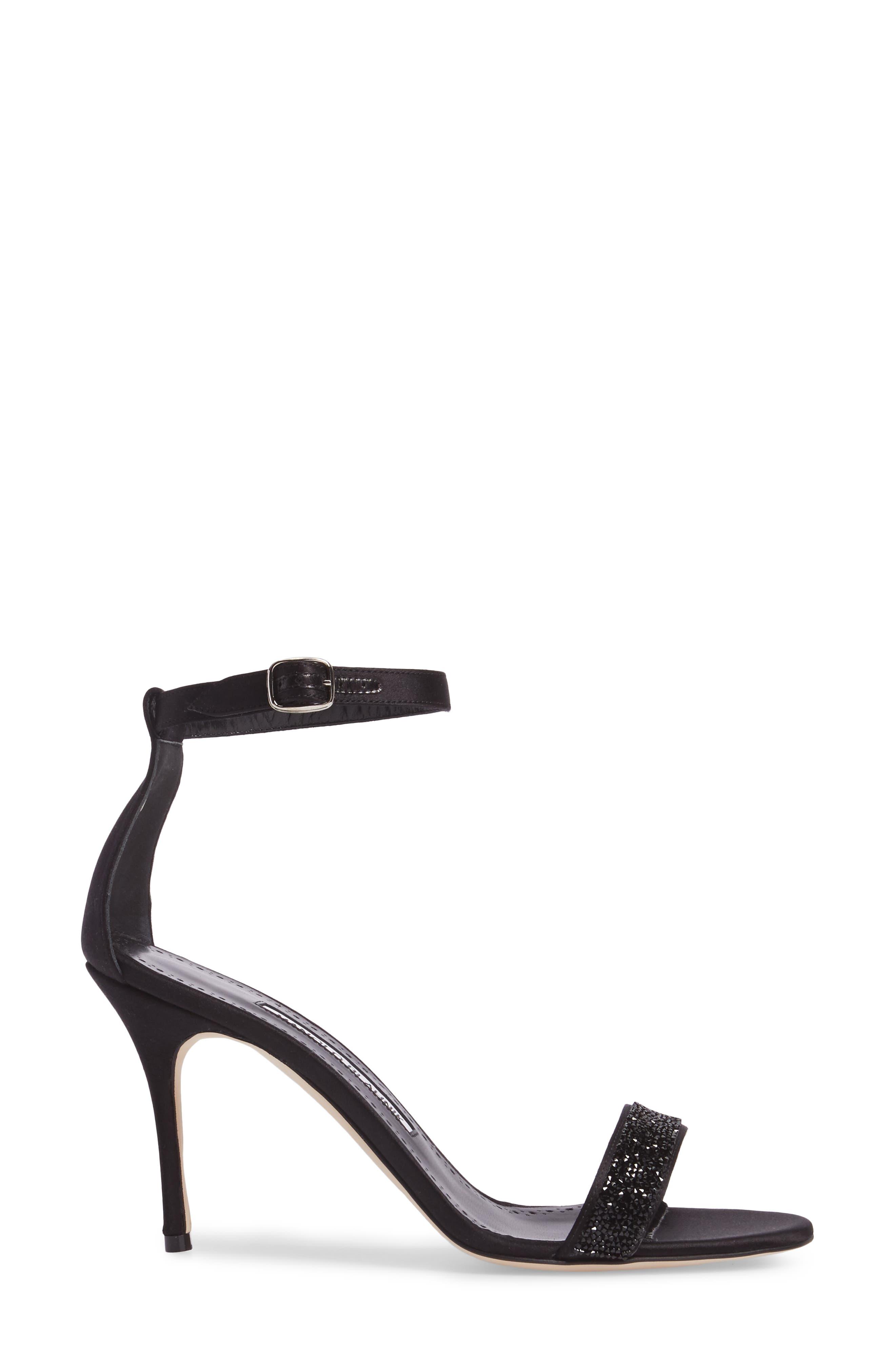Chaos Ankle Strap Sandal,                             Alternate thumbnail 3, color,                             Black