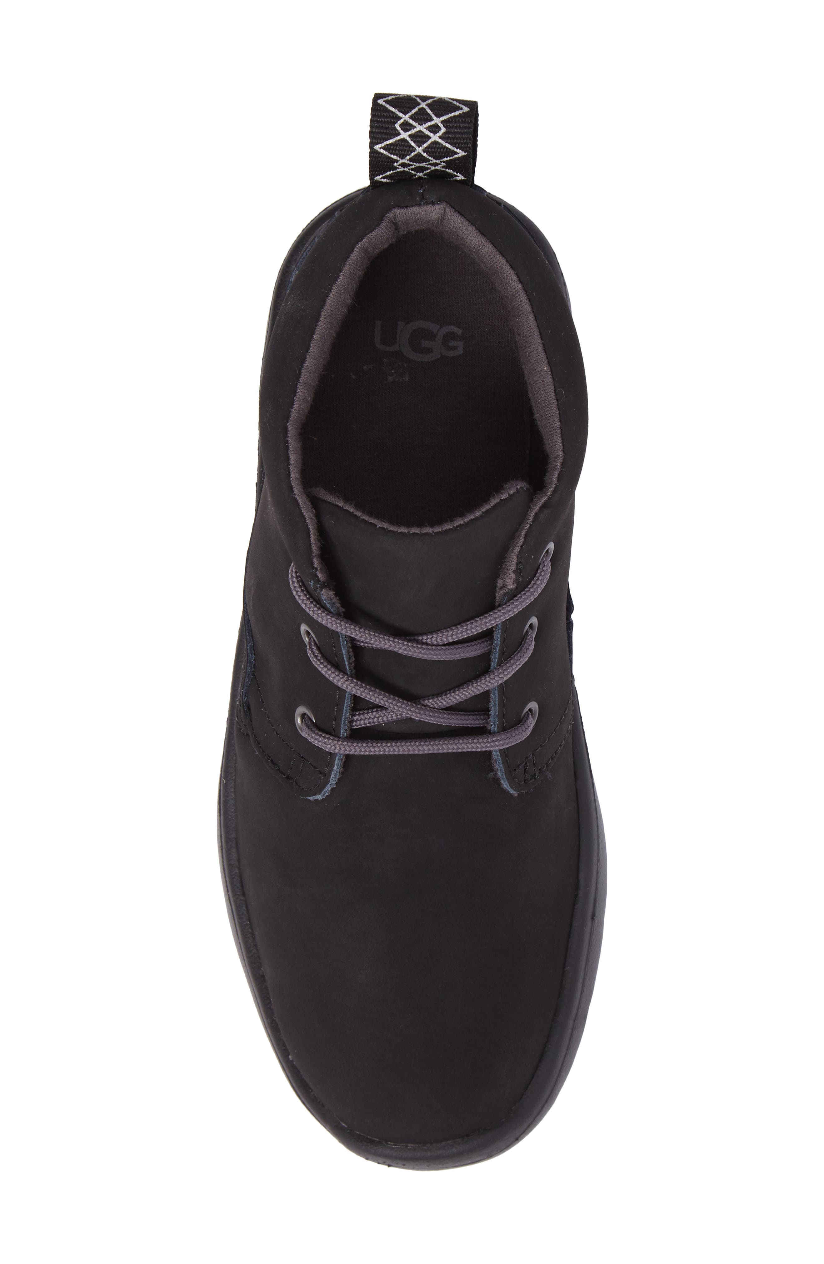 Canoe Water Resistant Chukka Sneaker,                             Alternate thumbnail 5, color,                             Black