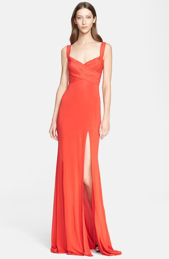 Donna Karan Collection Cross Front Jersey Gown | Nordstrom