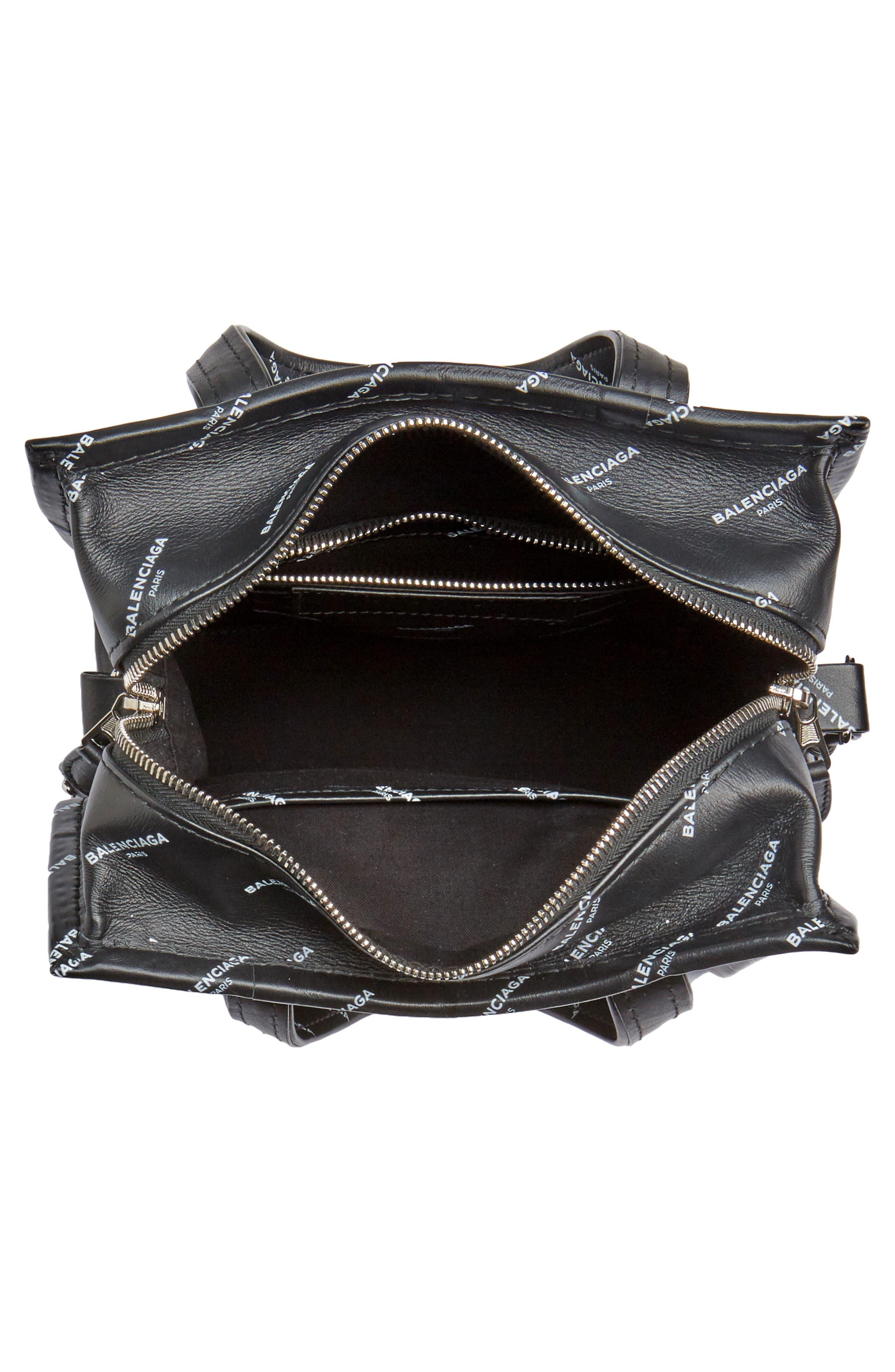 Alternate Image 4  - Balenciaga Extra Small Bazar Logo Leather Shopper